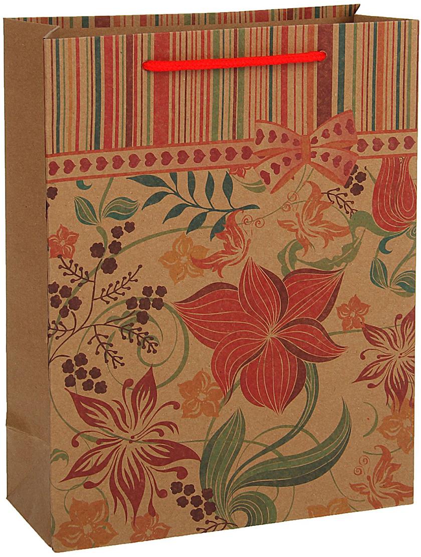 Пакет подарочный, цвет: красный, 24,5 х 19 х 8 см. 18492131849213Любой подарок начинается с упаковки. Что может быть трогательнее и волшебнее, чем ритуал разворачивания полученного презента. И именно оригинальная, со вкусом выбранная упаковка выделит ваш подарок из массы других. Она продемонстрирует самые теплые чувства к виновнику торжества и создаст сказочную атмосферу праздника - это то, что вы искали.