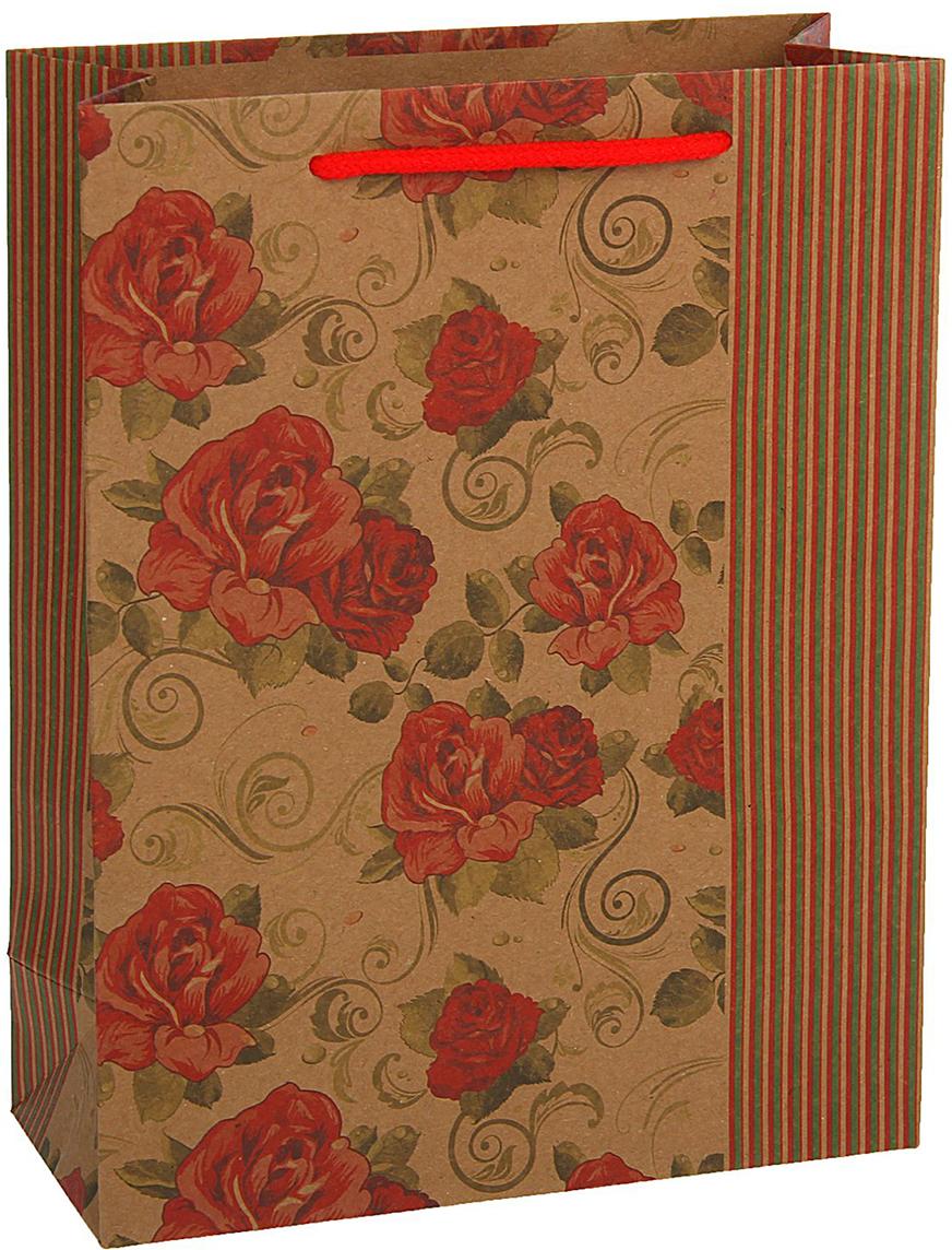 Пакет подарочный, цвет: красный, 33 х 24 х 8 см. 18492371849237Любой подарок начинается с упаковки. Что может быть трогательнее и волшебнее, чем ритуал разворачивания полученного презента. И именно оригинальная, со вкусом выбранная упаковка выделит ваш подарок из массы других. Она продемонстрирует самые теплые чувства к виновнику торжества и создаст сказочную атмосферу праздника - это то, что вы искали.