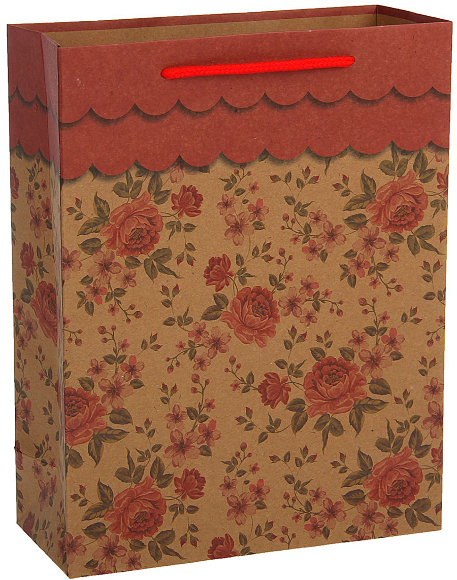Пакет подарочный, цвет: красный, 33 х 24 х 8 см. 18492381849238Любой подарок начинается с упаковки. Что может быть трогательнее и волшебнее, чем ритуал разворачивания полученного презента. И именно оригинальная, со вкусом выбранная упаковка выделит ваш подарок из массы других. Она продемонстрирует самые теплые чувства к виновнику торжества и создаст сказочную атмосферу праздника - это то, что вы искали.