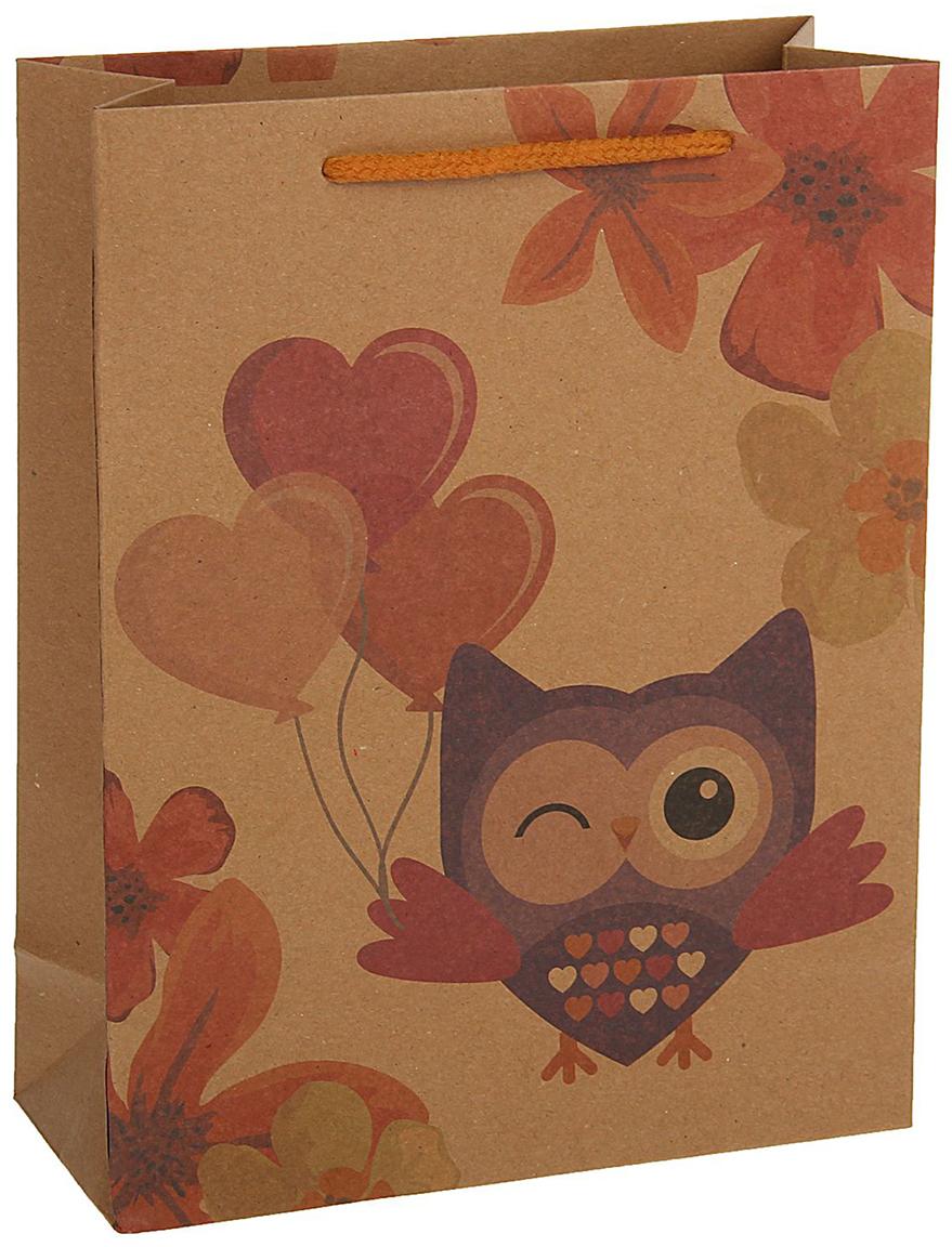 Пакет подарочный, цвет: коричневый, 36 х 27 х 8 см. 18492501849250Любой подарок начинается с упаковки. Что может быть трогательнее и волшебнее, чем ритуал разворачивания полученного презента. И именно оригинальная, со вкусом выбранная упаковка выделит ваш подарок из массы других. Она продемонстрирует самые теплые чувства к виновнику торжества и создаст сказочную атмосферу праздника - это то, что вы искали.