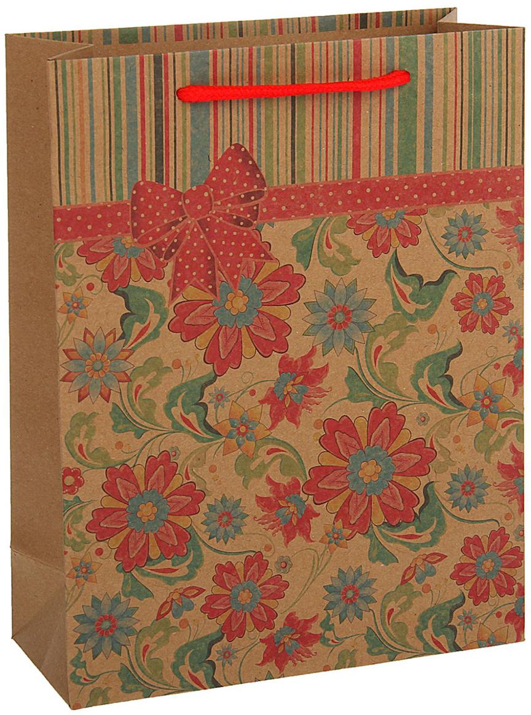 Пакет подарочный, цвет: красный, 36 х 27 х 8 см. 18492551849255Любой подарок начинается с упаковки. Что может быть трогательнее и волшебнее, чем ритуал разворачивания полученного презента. И именно оригинальная, со вкусом выбранная упаковка выделит ваш подарок из массы других. Она продемонстрирует самые теплые чувства к виновнику торжества и создаст сказочную атмосферу праздника - это то, что вы искали.