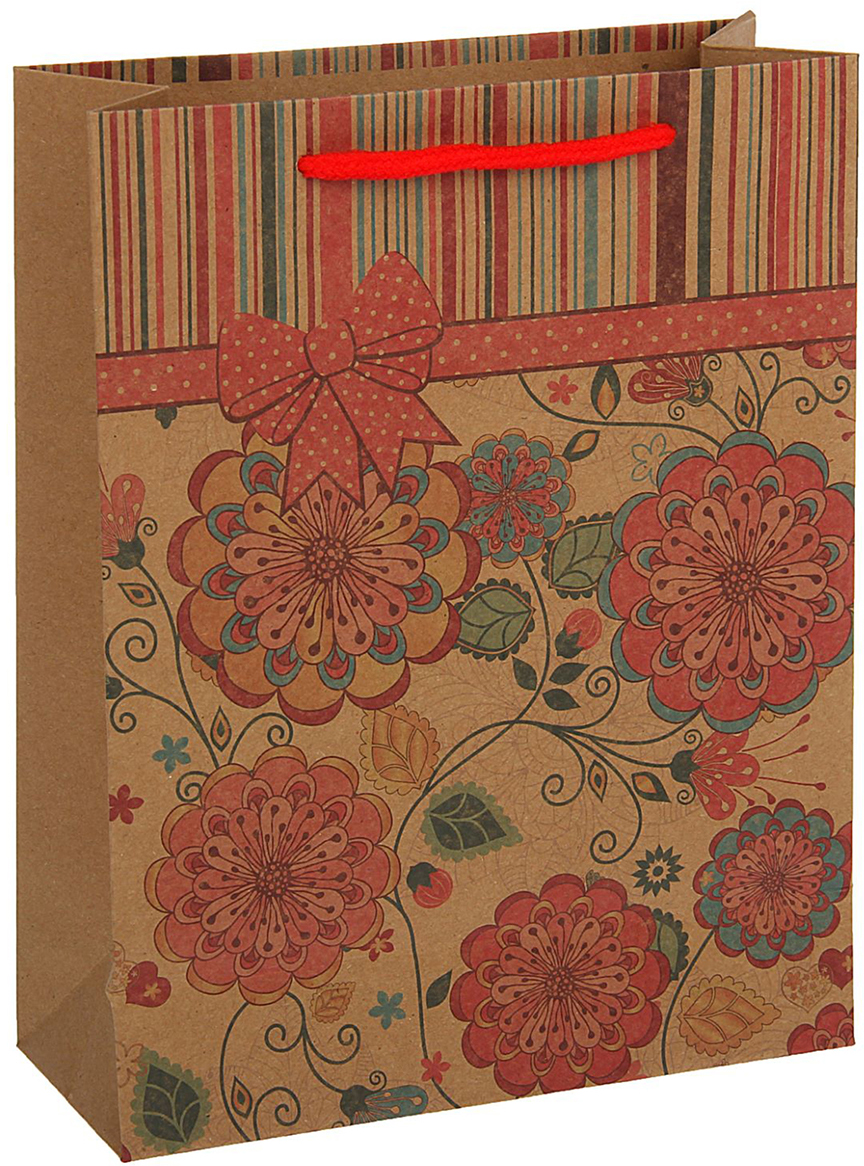 Пакет подарочный, цвет: красный, 42 х 31,5 х 10 см. 18492761849276Любой подарок начинается с упаковки. Что может быть трогательнее и волшебнее, чем ритуал разворачивания полученного презента. И именно оригинальная, со вкусом выбранная упаковка выделит ваш подарок из массы других. Она продемонстрирует самые теплые чувства к виновнику торжества и создаст сказочную атмосферу праздника - это то, что вы искали.