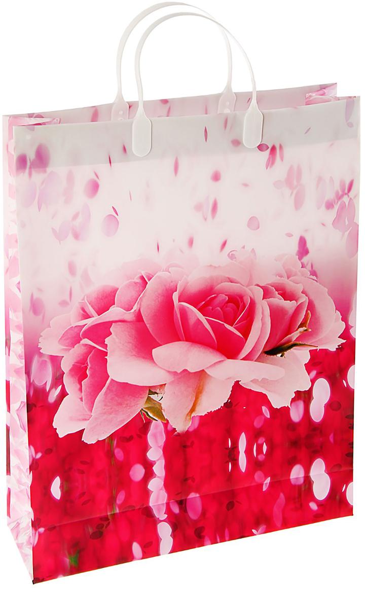 Пакет подарочный Подарок, цвет: красный, 32 х 10 х 42 см. 18646211864621Любой подарок начинается с упаковки. Что может быть трогательнее и волшебнее, чем ритуал разворачивания полученного презента. И именно оригинальная, со вкусом выбранная упаковка выделит ваш подарок из массы других. Она продемонстрирует самые теплые чувства к виновнику торжества и создаст сказочную атмосферу праздника. Пакет Подарок мягкий пластик, объемный - это то, что вы искали.