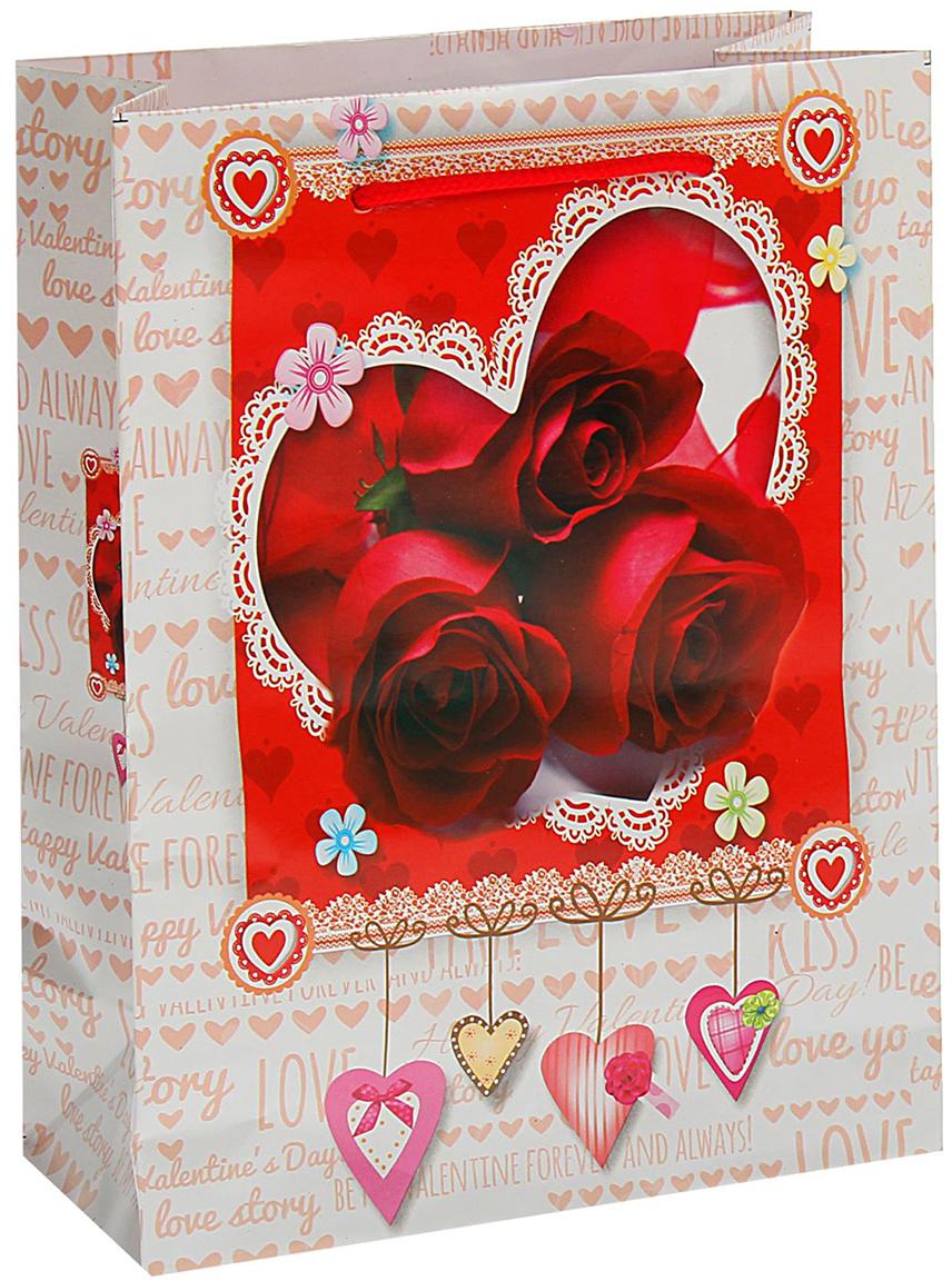 Пакет подарочный Три розы, цвет: мультиколор, 18 х 23 х 8,5 см. 18774601877460Любой подарок начинается с упаковки. Что может быть трогательнее и волшебнее, чем ритуал разворачивания полученного презента. И именно оригинальная, со вкусом выбранная упаковка выделит ваш подарок из массы других. Она продемонстрирует самые теплые чувства к виновнику торжества и создаст сказочную атмосферу праздника. Пакет подарочный Три розы - это то, что вы искали.