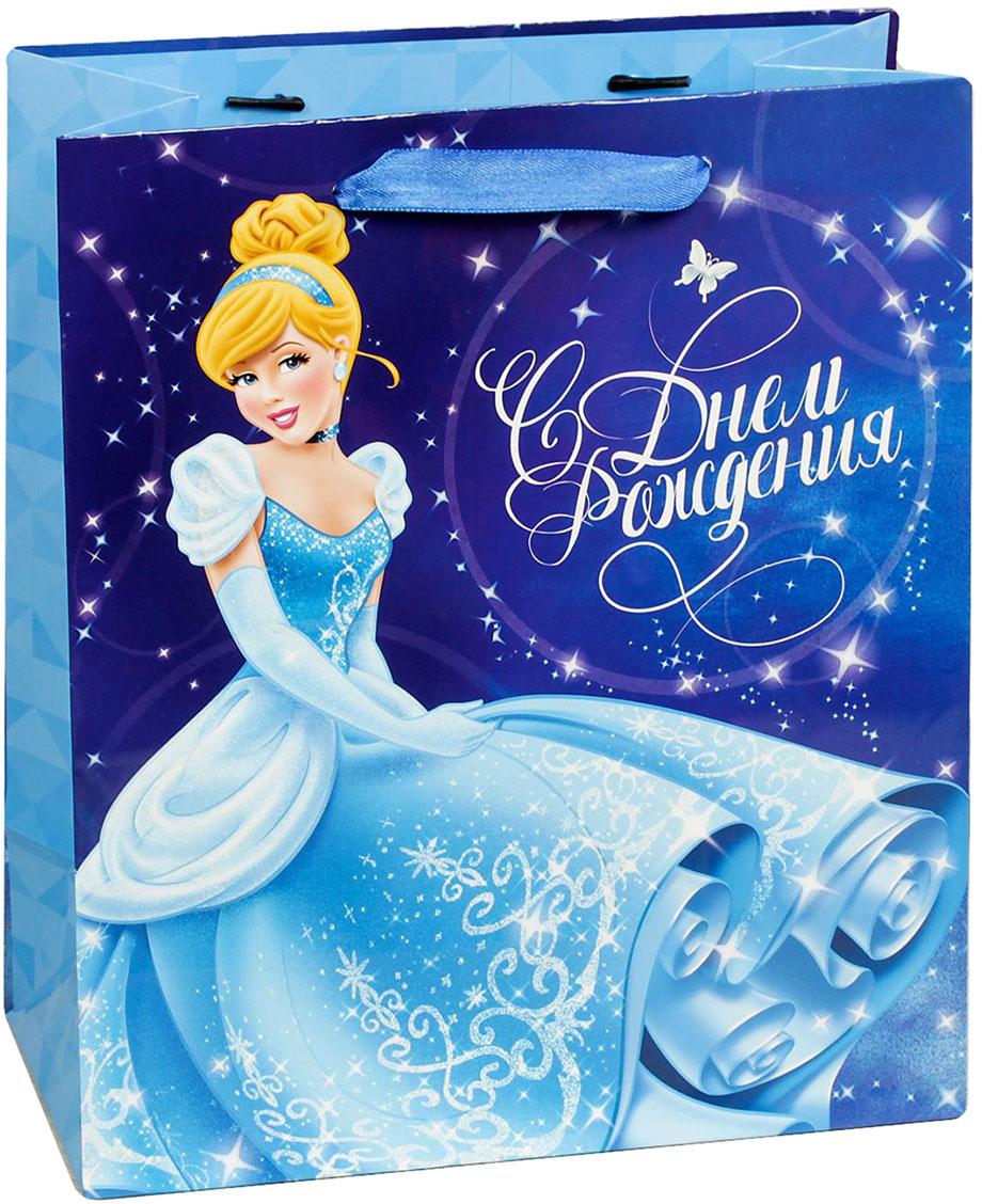 Пакет подарочный Disney Принцессы. Золушка. С Днем Рождения, цвет: мультиколор, 18 х 10 х 23 см. 19310821931082Подарки не обязательно делать только по важным поводам. Дарите их спонтанно, без причины, просто для души, ведь главное в этом процессе - удовольствие! А сколько радости получит адресат, когда увидит яркий ламинированный пакет с любимыми героями!Прочная ламинированная бумага с атласными ручками и уникальный дизайн делают его идеальным. Положите в него конфеты или игрушки, и ваш подарок не затеряется среди других.