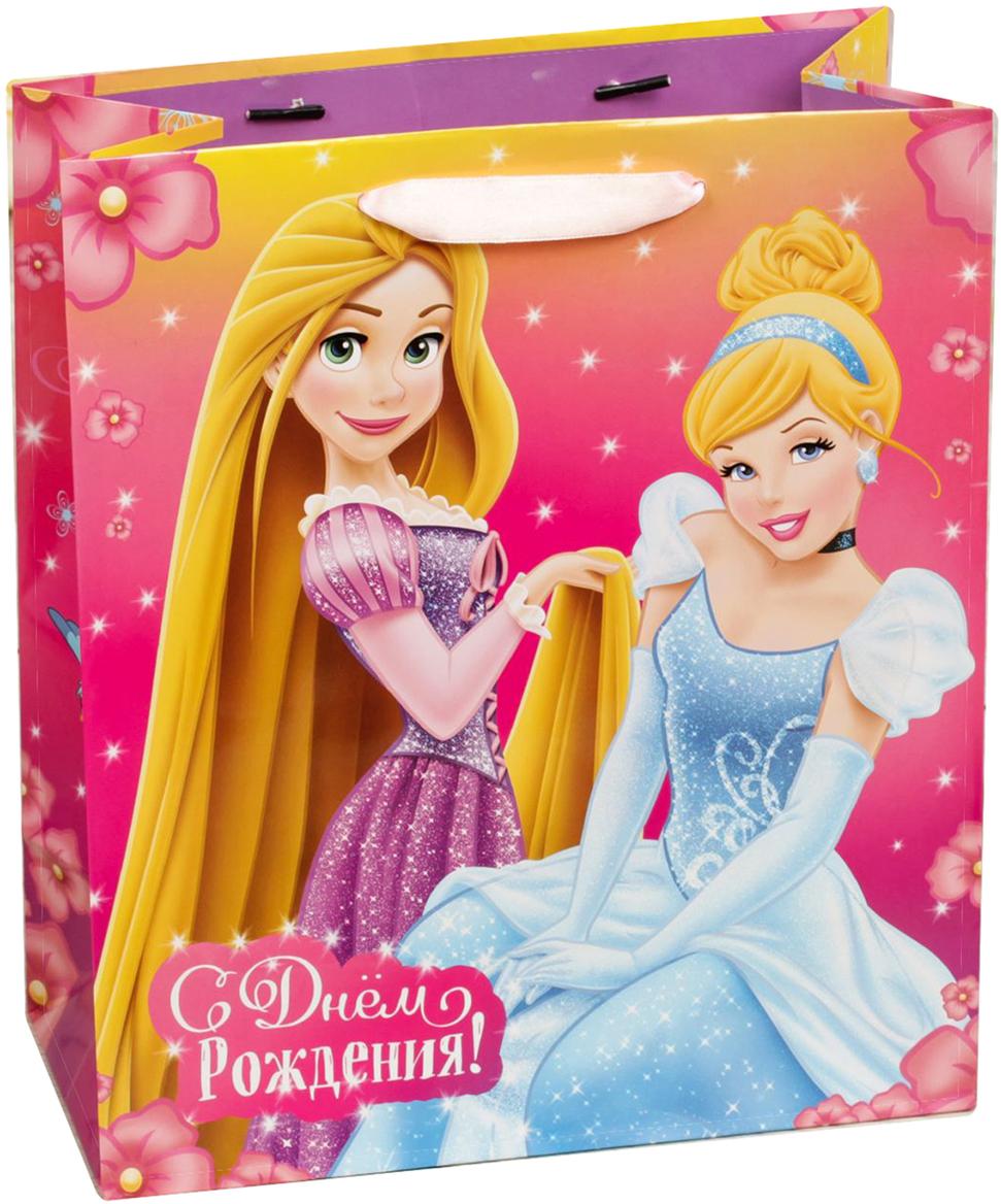 Пакет подарочный Disney Принцессы. С Днем Рождения, принцесса!, цвет: мультиколор, 18 х 10 х 23 см. 19311061931106Подарки не обязательно делать только по важным поводам. Дарите их спонтанно, без причины, просто для души, ведь главное в этом процессе - удовольствие! А сколько радости получит адресат, когда увидит яркий ламинированный пакет с любимыми героями!Прочная ламинированная бумага с атласными ручками и уникальный дизайн делают его идеальным. Положите в него конфеты или игрушки, и ваш подарок не затеряется среди других.