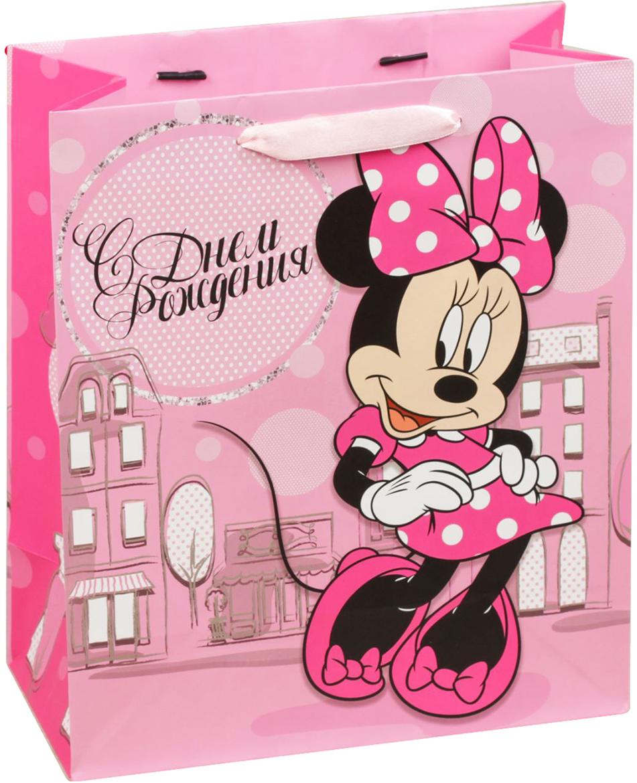 Пакет подарочный Disney Минни Маус. С Днем рождения, самая классная девчонка!, цвет: мультиколор, 18 х 10 х 23 см. 19311301931130Подарки не обязательно делать только по важным поводам. Дарите их спонтанно, без причины, просто для души, ведь главное в этом процессе - удовольствие! А сколько радости получит адресат, когда увидит яркий ламинированный пакет с любимыми героями!Прочная ламинированная бумага с атласными ручками и уникальный дизайн делают его идеальным. Положите в него конфеты или игрушки, и ваш подарок не затеряется среди других.