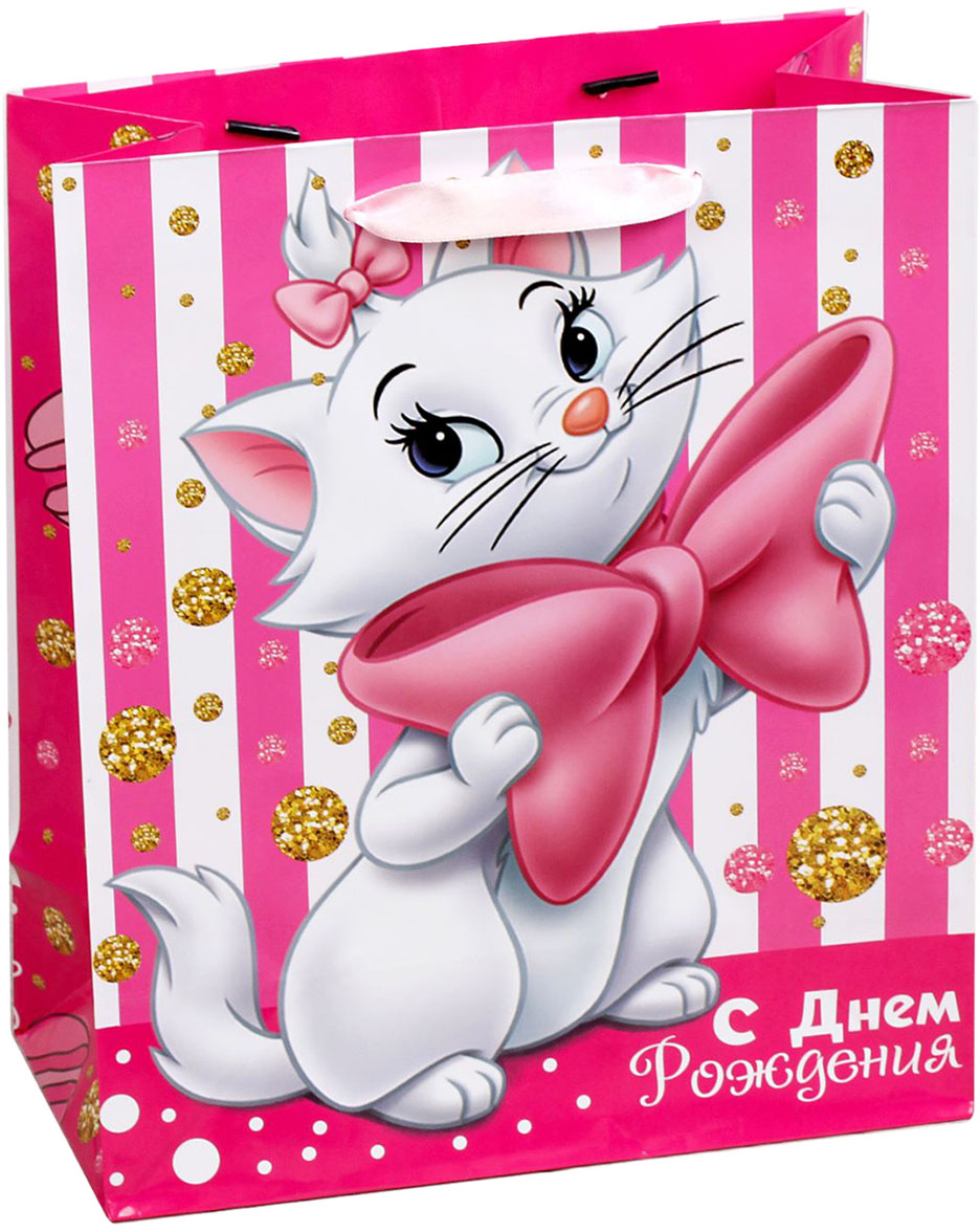 Пакет подарочный Disney Коты аристократы. С Днем рождения, цвет: мультиколор, 23 х 11,5 х 27 см. 19311491931149Подарки не обязательно делать только по важным поводам. Дарите их спонтанно, без причины, просто для души, ведь главное в этом процессе - удовольствие! А сколько радости получит адресат, когда увидит яркий ламинированный пакет с любимыми героями!Прочная ламинированная бумага с атласными ручками и уникальный дизайн делают его идеальным. Положите в него конфеты или игрушки, и ваш подарок не затеряется среди других.