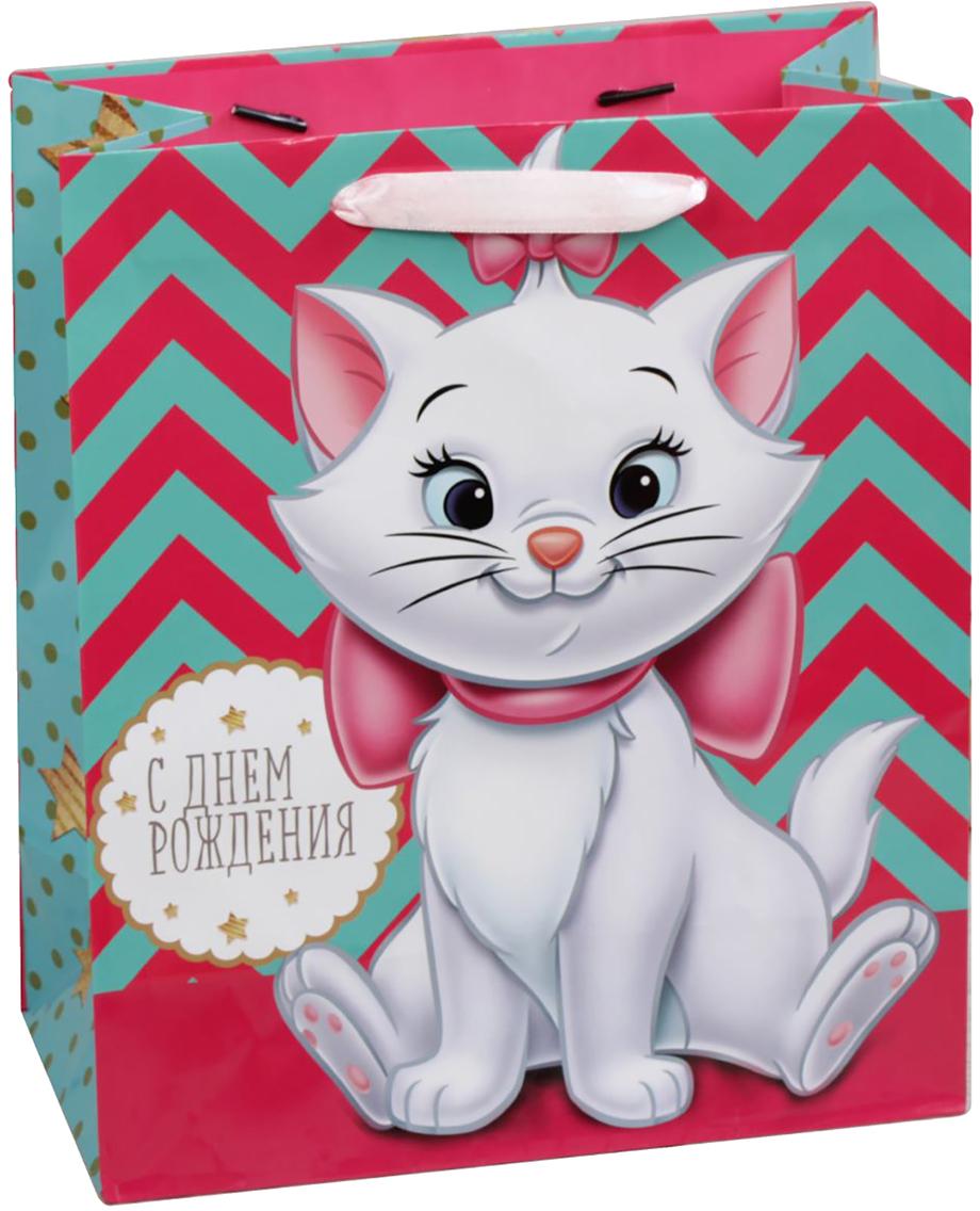 Пакет подарочный Disney Коты аристократы. Милой девочке в день рождения, цвет: мультиколор, 31 х 11 х 40 см. 19311531931153Подарки не обязательно делать только по важным поводам. Дарите их спонтанно, без причины, просто для души, ведь главное в этом процессе - удовольствие! А сколько радости получит адресат, когда увидит яркий ламинированный пакет с любимыми героями!Прочная ламинированная бумага с атласными ручками и уникальный дизайн делают его идеальным. Положите в него конфеты или игрушки, и ваш подарок не затеряется среди других.