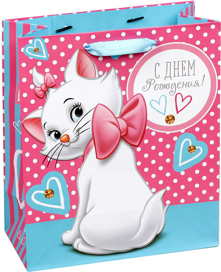 Пакет подарочный Disney Коты аристократы. С Днем рождения, милая девочка!, цвет: мультиколор, 31 х 11 х 40 см. 19311651931165Подарки не обязательно делать только по важным поводам. Дарите их спонтанно, без причины, просто для души, ведь главное в этом процессе - удовольствие! А сколько радости получит адресат, когда увидит яркий ламинированный пакет с любимыми героями!Прочная ламинированная бумага с атласными ручками и уникальный дизайн делают его идеальным. Положите в него конфеты или игрушки, и ваш подарок не затеряется среди других.