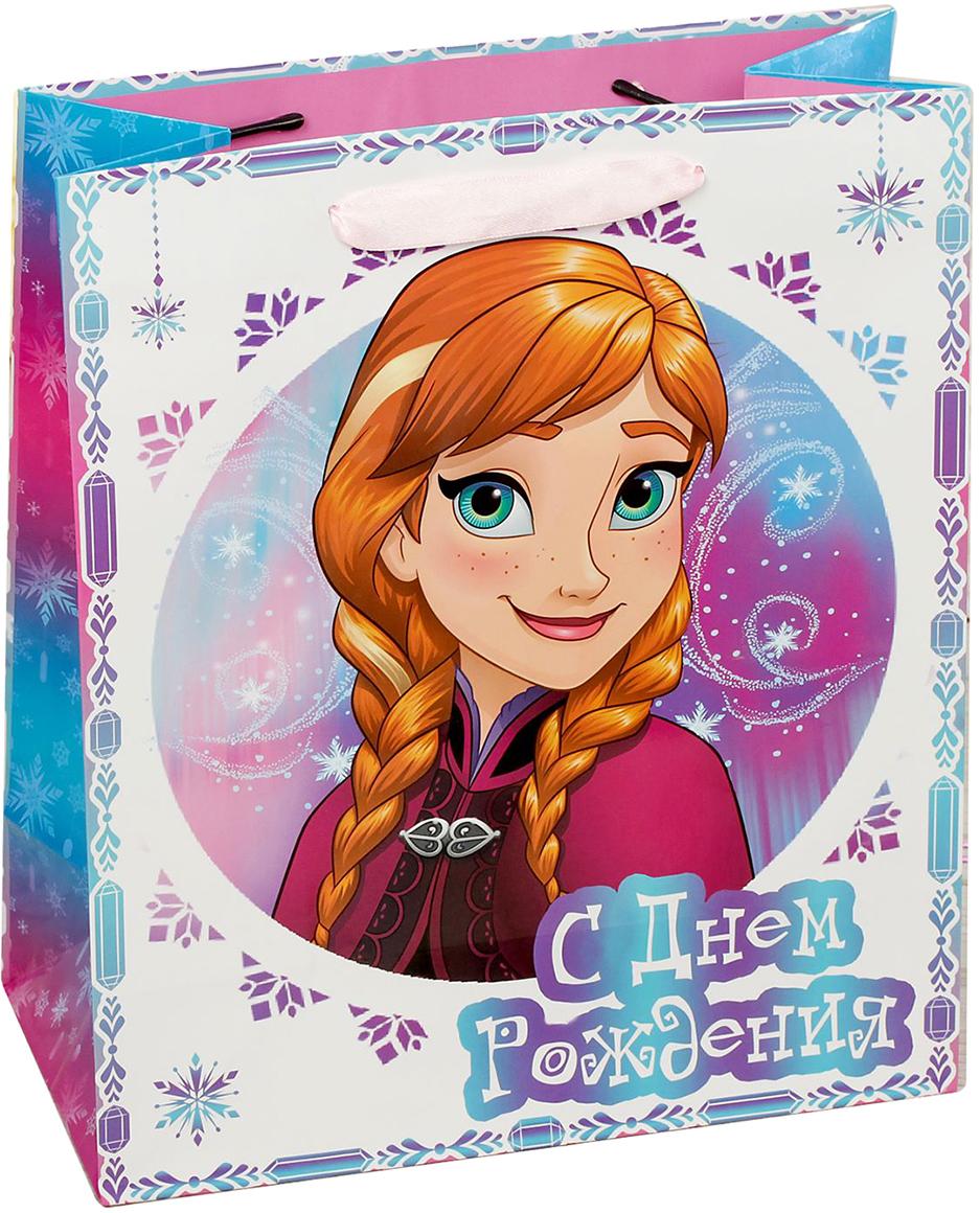Пакет подарочный Disney Холодное сердце. Для самой красивой!, цвет: мультиколор, 18 х 10 х 23 см. 19311841931184Подарки не обязательно делать только по важным поводам. Дарите их спонтанно, без причины, просто для души, ведь главное в этом процессе - удовольствие! А сколько радости получит адресат, когда увидит яркий ламинированный пакет с любимыми героями!Прочная ламинированная бумага с атласными ручками и уникальный дизайн делают его идеальным. Положите в него конфеты или игрушки, и ваш подарок не затеряется среди других.