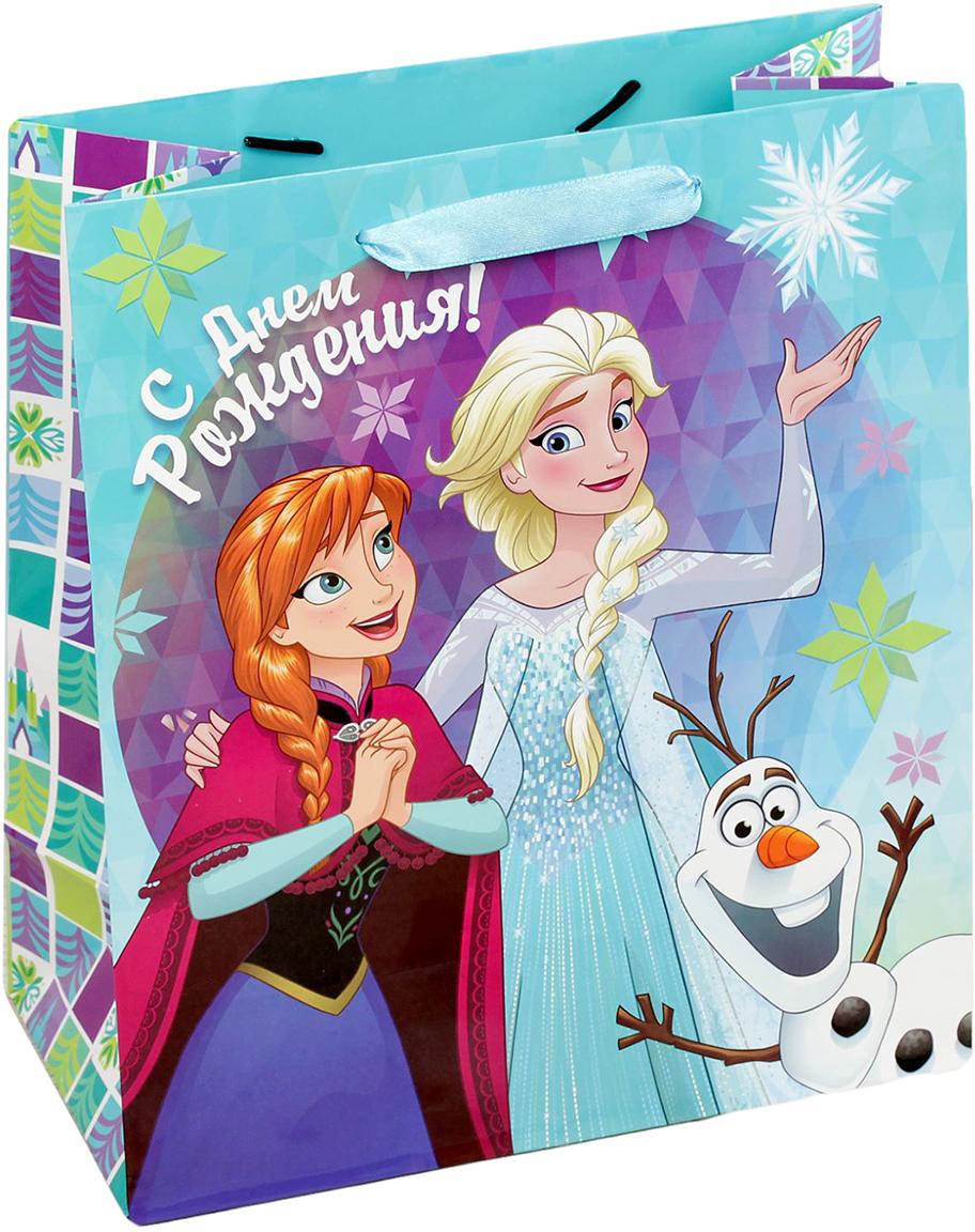 Пакет подарочный Disney Холодное сердце. Веселого дня рождения!, цвет: мультиколор, 31 х 11 х 40 см. 19311891931189Подарки не обязательно делать только по важным поводам. Дарите их спонтанно, без причины, просто для души, ведь главное в этом процессе - удовольствие! А сколько радости получит адресат, когда увидит яркий ламинированный пакет с любимыми героями!Прочная ламинированная бумага с атласными ручками и уникальный дизайн делают его идеальным. Положите в него конфеты или игрушки, и ваш подарок не затеряется среди других.