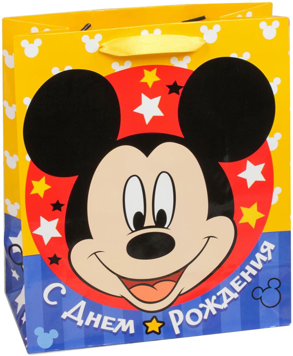 Пакет подарочный Disney Микки Маус. Самому классному в день рождения!, цвет: мультиколор, 31 х 11 х 40 см. 20197372019737Подарки не обязательно делать только по важным поводам. Дарите их спонтанно, без причины, просто для души, ведь главное в этом процессе - удовольствие! А сколько радости получит адресат, когда увидит яркий ламинированный пакет с любимыми героями!Прочная ламинированная бумага с атласными ручками и уникальный дизайн делают его идеальным. Положите в него конфеты или игрушки, и ваш подарок не затеряется среди других.
