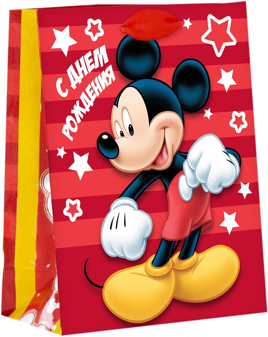 Пакет подарочный Disney Микки Маус. Ты супер!, цвет: мультиколор, 31 х 11 х 40 см. 20197402019740Подарки не обязательно делать только по важным поводам. Дарите их спонтанно, без причины, просто для души, ведь главное в этом процессе - удовольствие! А сколько радости получит адресат, когда увидит яркий ламинированный пакет с любимыми героями!Прочная ламинированная бумага с атласными ручками и уникальный дизайн делают его идеальным. Положите в него конфеты или игрушки, и ваш подарок не затеряется среди других.