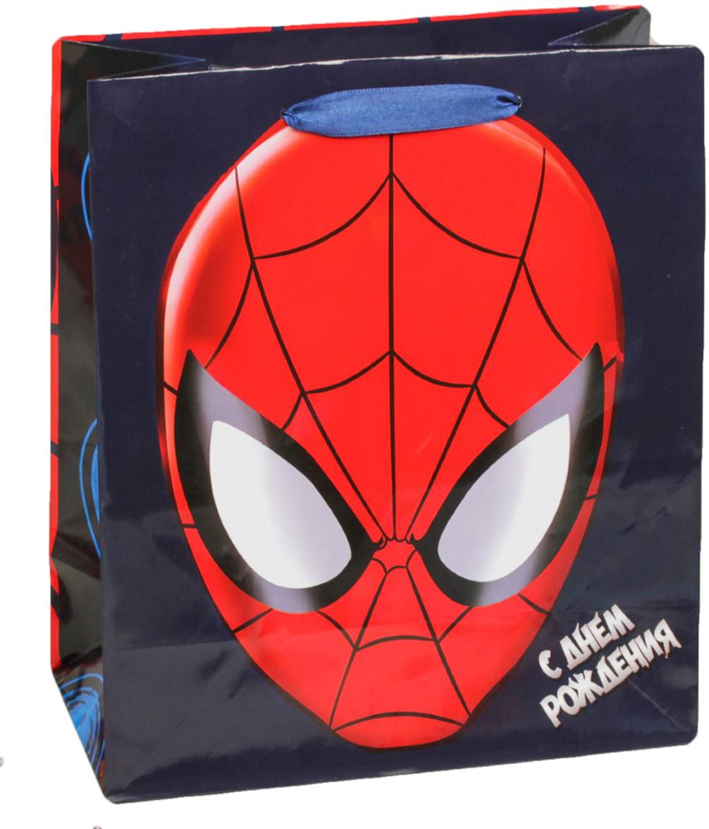 Пакет подарочный Marvel Человек-паук. Ты- супергерой, цвет: мультиколор, 31 х 11 х 40 см. 20197492019749Подарки не обязательно делать только по важным поводам. Дарите их спонтанно, без причины, просто для души, ведь главное в этом процессе - удовольствие! А сколько радости получит адресат, когда увидит яркий ламинированный пакет с любимыми героями!Прочная ламинированная бумага с атласными ручками и уникальный дизайн делают его идеальным. Положите в него конфеты или игрушки, и ваш подарок не затеряется среди других.