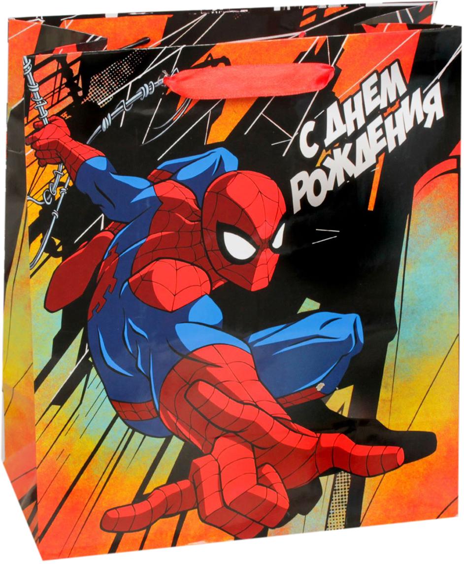 Пакет подарочный Marvel Человек-паук. Ты лучший!, цвет: мультиколор, 31 х 11 х 40 см. 20197522019752Подарки не обязательно делать только по важным поводам. Дарите их спонтанно, без причины, просто для души, ведь главное в этом процессе - удовольствие! А сколько радости получит адресат, когда увидит яркий ламинированный пакет с любимыми героями!Прочная ламинированная бумага с атласными ручками и уникальный дизайн делают его идеальным. Положите в него конфеты или игрушки, и ваш подарок не затеряется среди других.