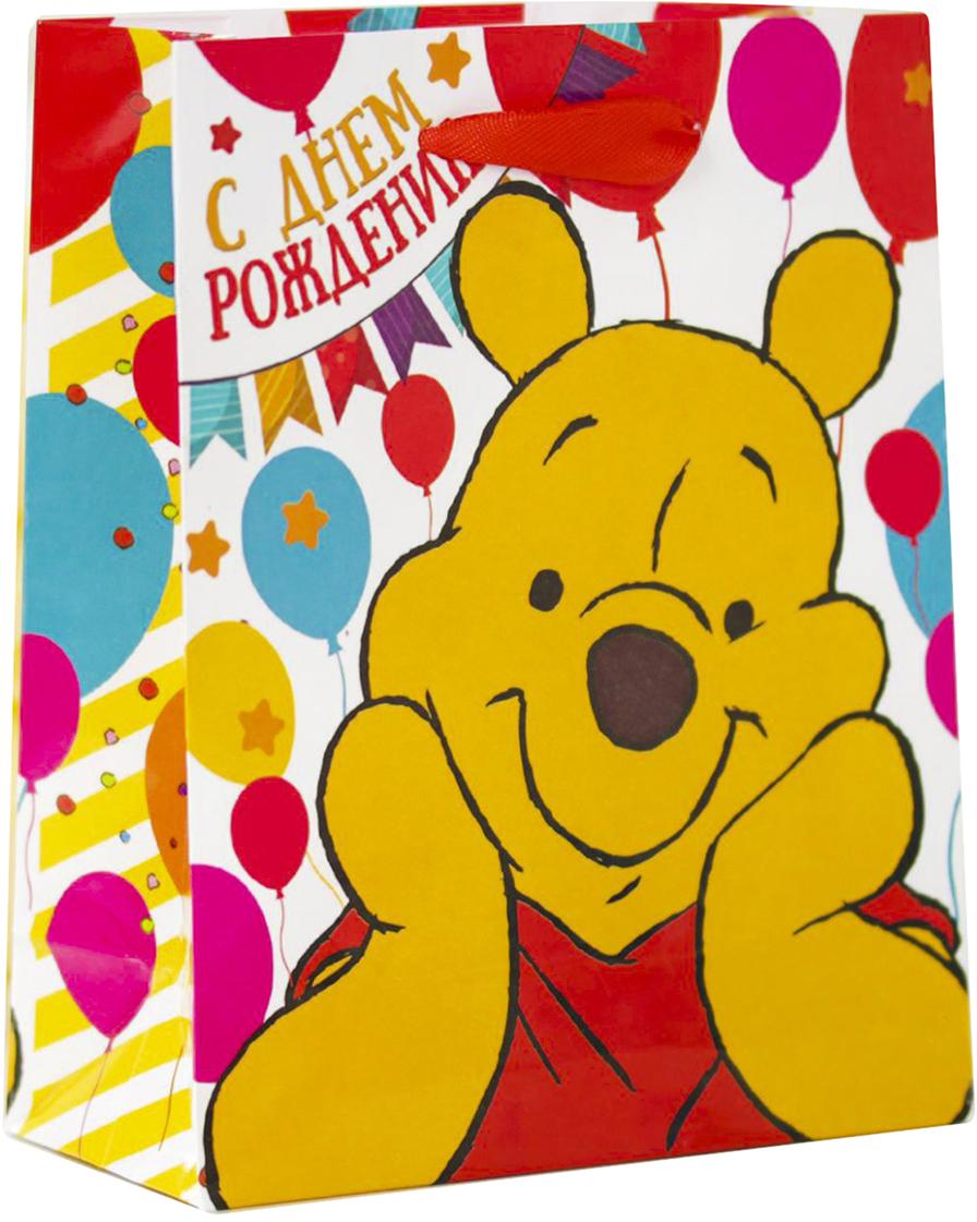 Пакет подарочный Disney Медвежонок Винни. Хорошего настроения!, цвет: мультиколор, 18 х 10 х 23 см. 20197622019762Подарки не обязательно делать только по важным поводам. Дарите их спонтанно, без причины, просто для души, ведь главное в этом процессе - удовольствие! А сколько радости получит адресат, когда увидит яркий ламинированный пакет с любимыми героями!Прочная ламинированная бумага с атласными ручками и уникальный дизайн делают его идеальным. Положите в него конфеты или игрушки, и ваш подарок не затеряется среди других.