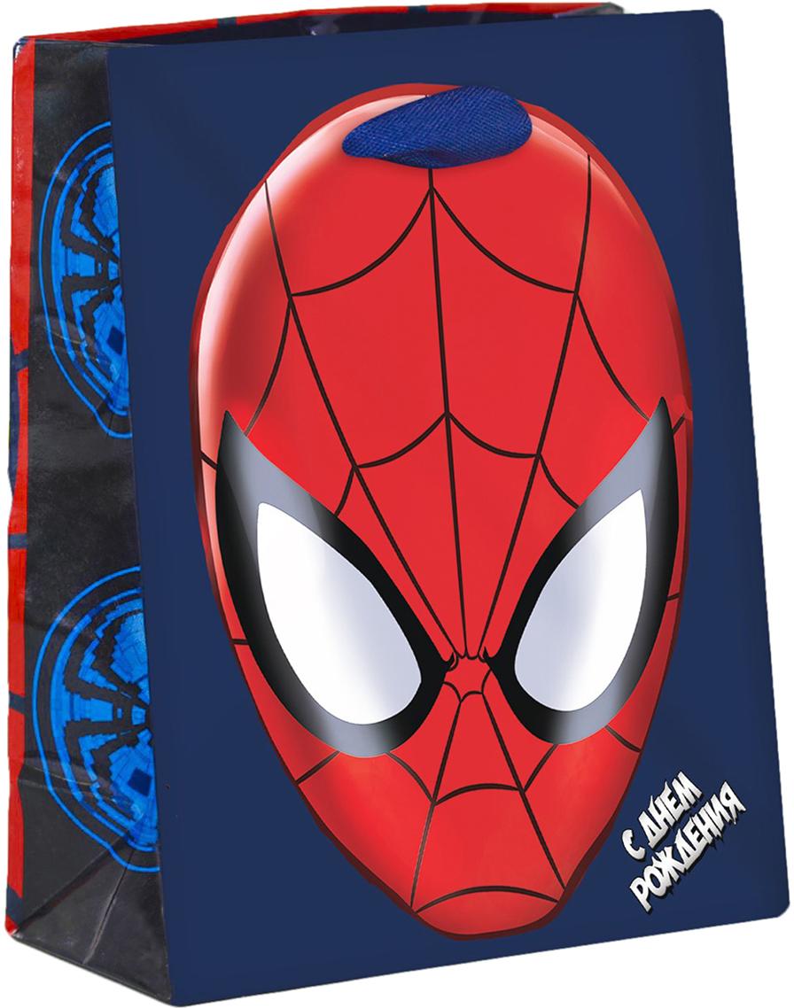 Пакет подарочный Marvel Человек-паук. Ты- супергерой, цвет: мультиколор, 12 х 5,5 х 15 см. 20197692019769Подарки не обязательно делать только по важным поводам. Дарите их спонтанно, без причины, просто для души, ведь главное в этом процессе - удовольствие! А сколько радости получит адресат, когда увидит яркий ламинированный пакет с любимыми героями!Прочная ламинированная бумага с атласными ручками и уникальный дизайн делают его идеальным. Положите в него конфеты или игрушки, и ваш подарок не затеряется среди других.