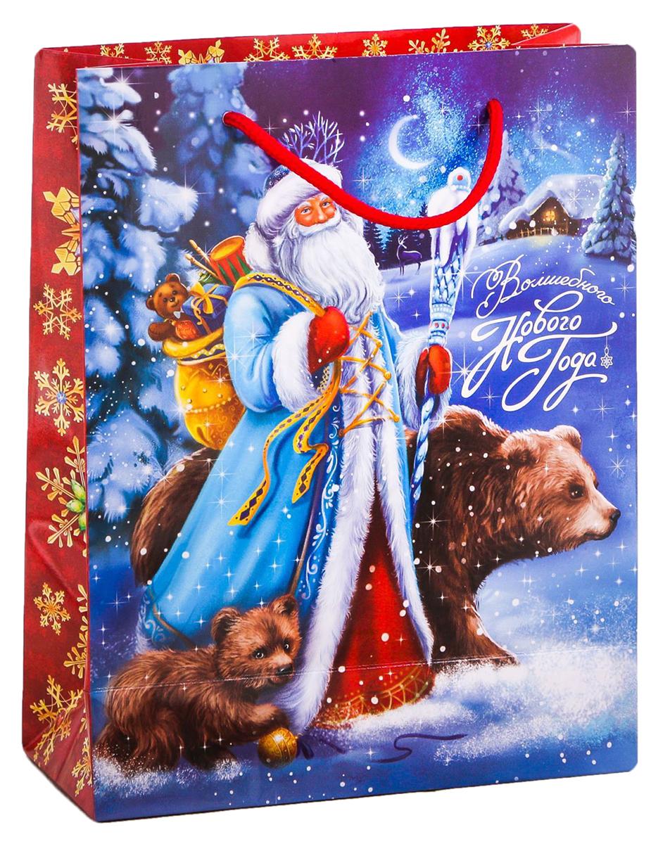 Пакет подарочный Дарите Счастье Зимнее волшебство, цвет: мультиколор, 31 х 40 х 9 см. 21138182113818Привлекательная упаковка послужит достойным украшением любого, даже самого скромного подарка. Она поможет создать интригу и продлить время предвкушения чуда - момента, когда презент окажется в руках адресата. Пакет имеет яркий, оригинальный дизайн, который обязательно понравится получателю! Изделие выполнено из плотной бумаги, благодаря чему обеспечит надежную защиту содержимого.