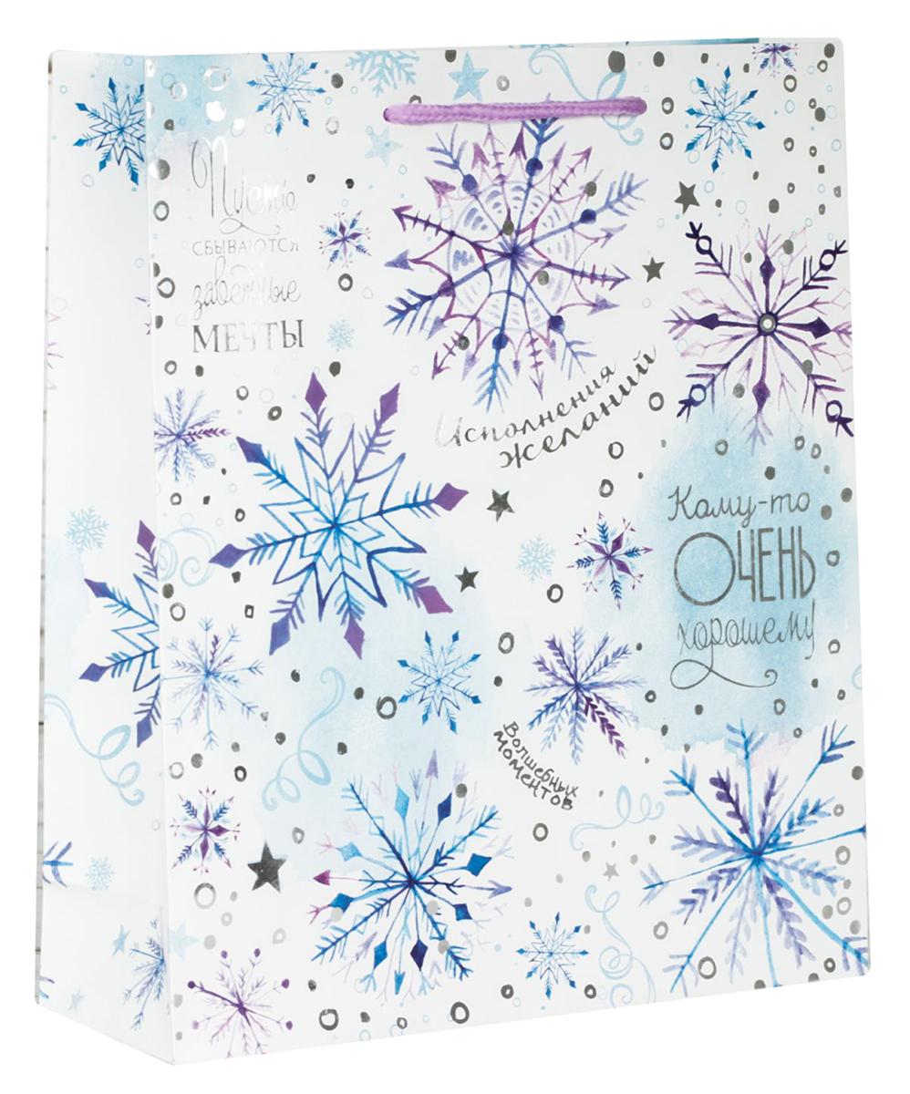Пакет подарочный Дарите Счастье Волшебные снежинки, цвет: мультиколор, 12 х 5,5 х 15 см. 21138962113896Привлекательная упаковка послужит достойным украшением любого, даже самого скромного подарка. Она поможет создать интригу и продлить время предвкушения чуда - момента, когда презент окажется в руках адресата. Пакет имеет яркий, оригинальный дизайн, который обязательно понравится получателю! Изделие выполнено из плотной бумаги, благодаря чему обеспечит надежную защиту содержимого.