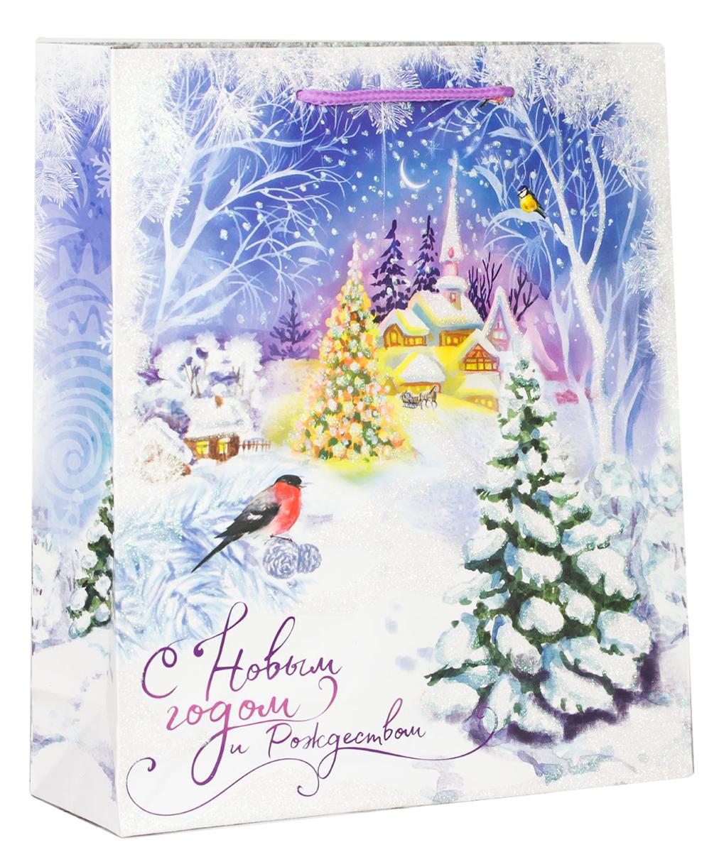 Пакет подарочный Дарите Счастье Сказка зимнего леса, цвет: мультиколор, 18 х 8 х 23 см. 21139102113910Привлекательная упаковка послужит достойным украшением любого, даже самого скромного подарка. Она поможет создать интригу и продлить время предвкушения чуда - момента, когда презент окажется в руках адресата. Пакет имеет яркий, оригинальный дизайн, который обязательно понравится получателю! Изделие выполнено из плотной бумаги, благодаря чему обеспечит надежную защиту содержимого.
