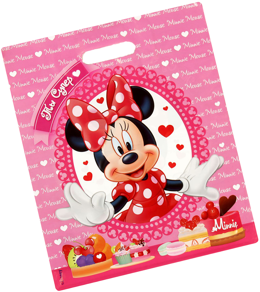 Пакет подарочный Disney Минни Маус. Ты супер!, цвет: мультиколор, 34 х 40 см. 2333371 пакет подарочный disney софия прекрасная самая милая цвет мультиколор 18 х 10 х 23 см 2019723