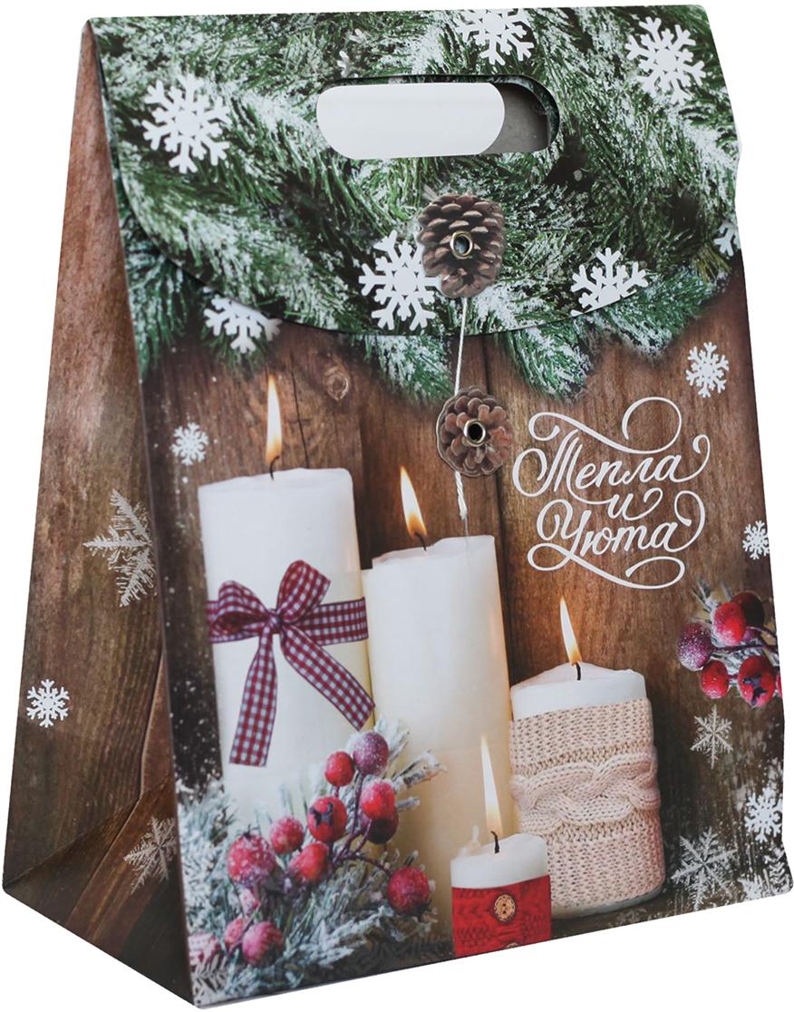Пакет подарочный Дарите Счастье Тепла и уюта, с клапаном, цвет: мультиколор, 26 х 12 х 32 см. 23662992366299Пакет с клапаном - отличное решение для оформления подарка!Оригинальный новогодний дизайн поднимет настроение и поможет создать праздничную атмосферу. Благодаря клапану вы сохраните свой презент в тайне до наступления нужного момента. Упаковка выполнена из плотного картона, благодаря чему не мнется и держит форму.