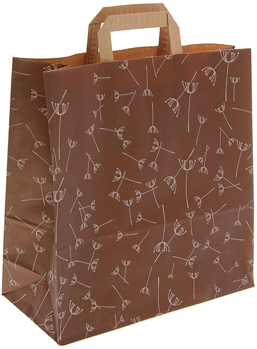 Пакет подарочный Одуванчики, цвет: коричневый, 32 х 12 х 32 см. 24336462433646Любой подарок начинается с упаковки. Что может быть трогательнее и волшебнее, чем ритуал разворачивания полученного презента. И именно оригинальная, со вкусом выбранная упаковка выделит ваш подарок из массы других. Она продемонстрирует самые теплые чувства к виновнику торжества и создаст сказочную атмосферу праздника - это то, что вы искали.