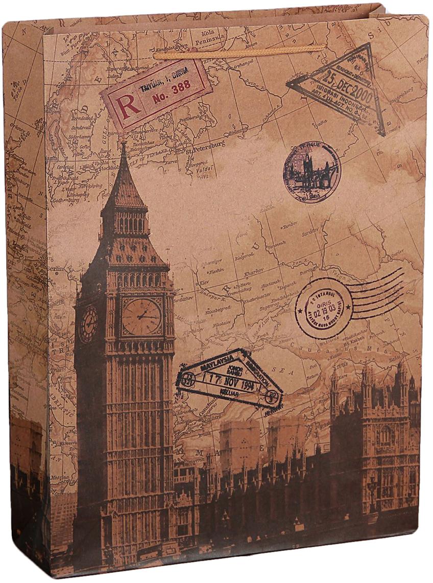 """Любой подарок начинается с упаковки. Что может быть трогательнее и волшебнее, чем ритуал разворачивания полученного презента. И именно оригинальная, со вкусом выбранная упаковка выделит ваш подарок из массы других. Она продемонстрирует самые теплые чувства к виновнику торжества и создаст сказочную атмосферу праздника. Пакет-крафт """"Лондон"""" - это то, что вы искали."""