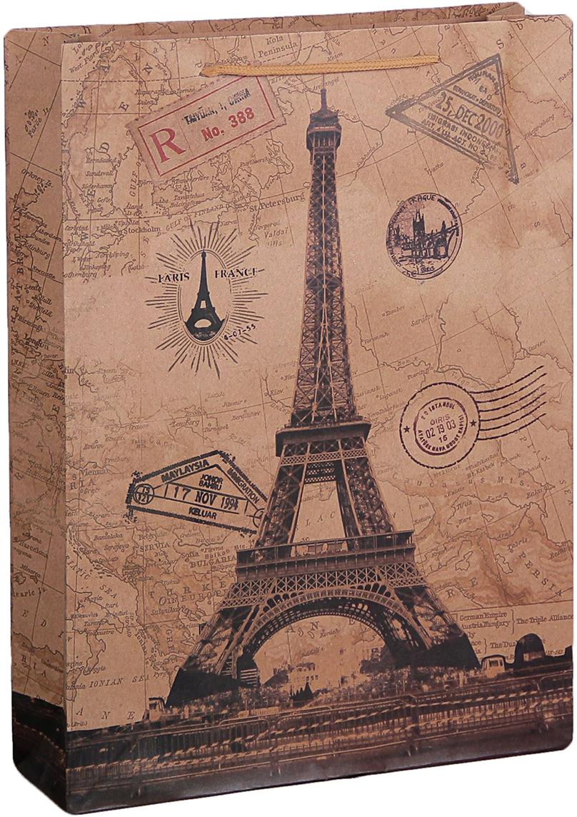 """Любой подарок начинается с упаковки. Что может быть трогательнее и волшебнее, чем ритуал разворачивания полученного презента. И именно оригинальная, со вкусом выбранная упаковка выделит ваш подарок из массы других. Она продемонстрирует самые теплые чувства к виновнику торжества и создаст сказочную атмосферу праздника. Пакет-крафт """"Париж"""" - это то, что вы искали."""