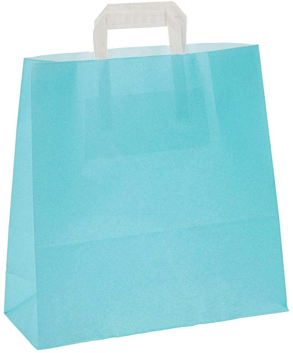 Пакет подарочный, цвет: голубой, 32 х 12 х 32 см. 24664402466440Любой подарок начинается с упаковки. Что может быть трогательнее и волшебнее, чем ритуал разворачивания полученного презента. И именно оригинальная, со вкусом выбранная упаковка выделит ваш подарок из массы других. Она продемонстрирует самые теплые чувства к виновнику торжества и создаст сказочную атмосферу праздника - это то, что вы искали.