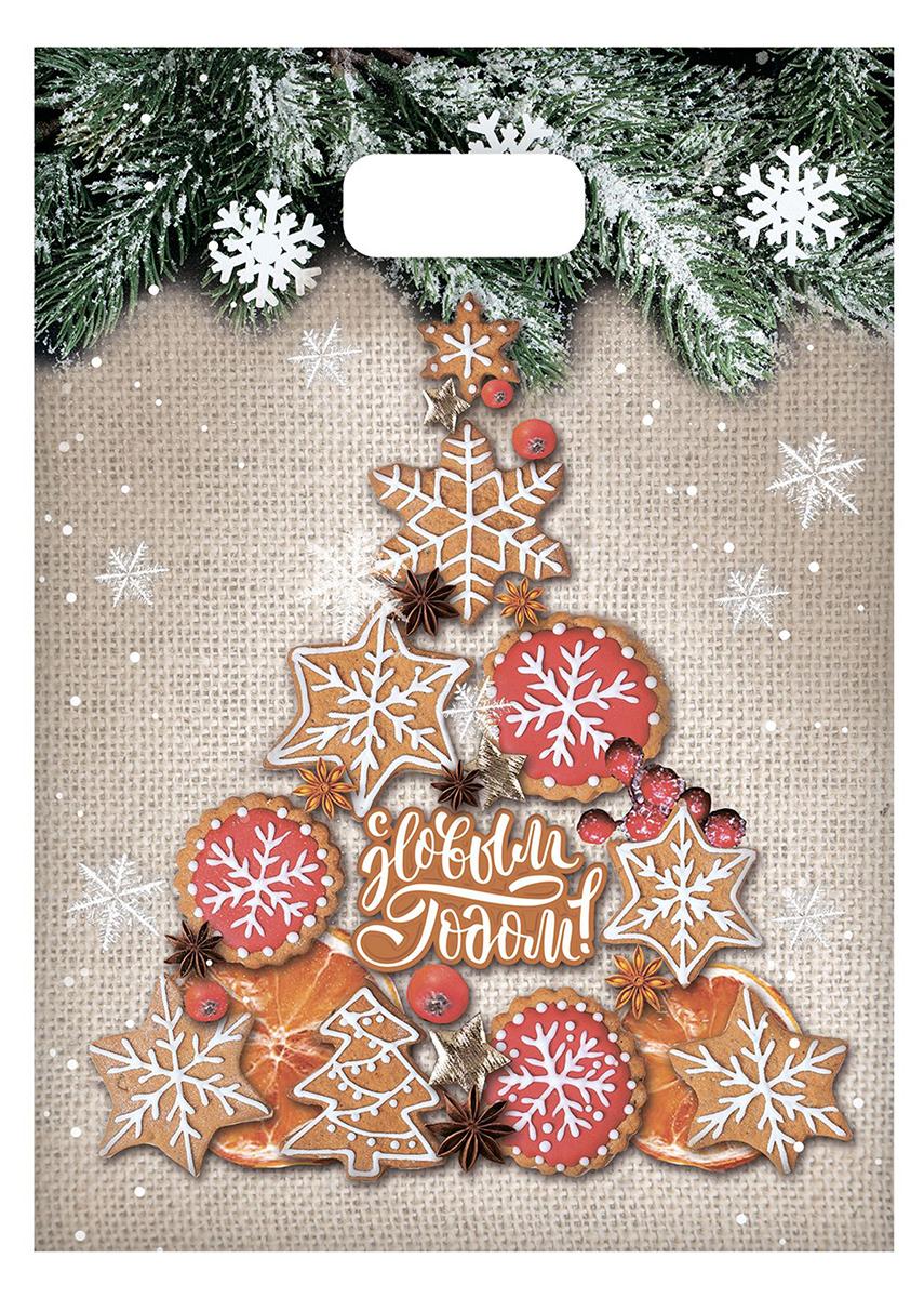 Пакет подарочный Дарите Счастье Имбирная елочка, цвет: мультиколор, 17 х 20 см. 24778672477867Невозможно представить нашу жизнь без праздников! Мы всегда ждем их и предвкушаем, обдумываем, как проведем памятный день, тщательно выбираем подарки и аксессуары, ведь именно они создают и поддерживают торжественный настрой - это отличный выбор, который привнесет атмосферу праздника в ваш дом!Любой подарок начинается с упаковки. Что может быть трогательнее и волшебнее, чем ритуал разворачивания полученного презента. И именно оригинальная, со вкусом выбранная упаковка выделит ваш подарок из массы других. Она продемонстрирует самые теплые чувства к виновнику торжества и создаст сказочную атмосферу праздника - это то, что вы искали.