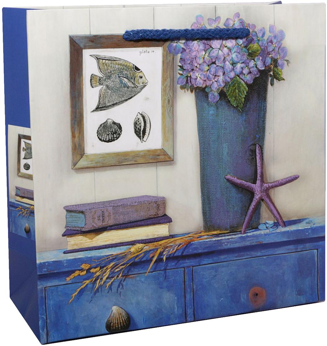 Пакет подарочный Сирень, цвет: синий, 30 х 30 х 12 см. 2478280 пакет подарочный сирень цвет синий 22 х 22 х 9 см 2478276
