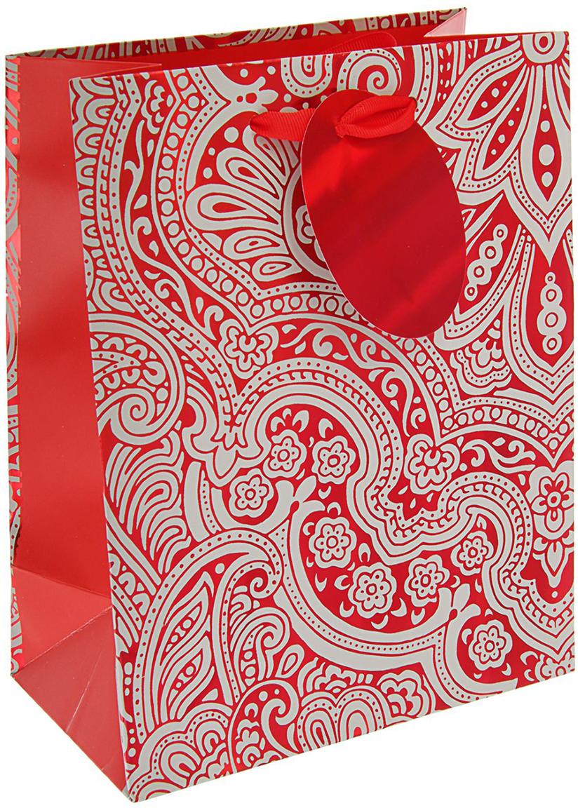 Пакет подарочный Арт и Дизайн Люкс. Ажур, цвет: мультиколор, 23 х 17,8 х 9,8 см. 24803252480325Любой подарок начинается с упаковки. Что может быть трогательнее и волшебнее, чем ритуал разворачивания полученного презента. И именно оригинальная, со вкусом выбранная упаковка выделит ваш подарок из массы других. Она продемонстрирует самые теплые чувства к виновнику торжества и создаст сказочную атмосферу праздника - это то, что вы искали.