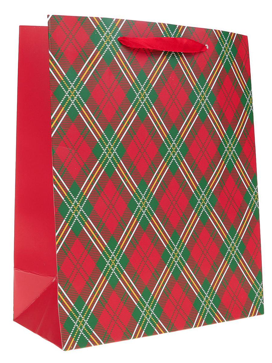 Пакет подарочный Ромбы, цвет: красный, 21 х 10 х 26 см. 24901132490113Любой подарок начинается с упаковки. Что может быть трогательнее и волшебнее, чем ритуал разворачивания полученного презента. И именно оригинальная, со вкусом выбранная упаковка выделит ваш подарок из массы других. Она продемонстрирует самые теплые чувства к виновнику торжества и создаст сказочную атмосферу праздника. Пакет подарочный Ромбы - это то, что вы искали.