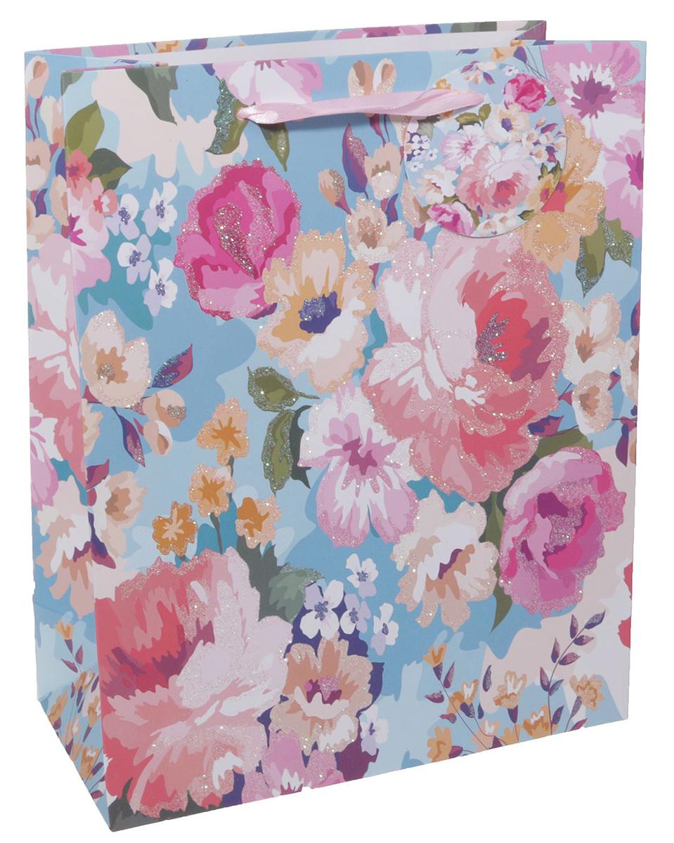 Пакет подарочный Люкс. Цветы, цвет: мультиколор, 21 х 10 х 26 см. 24901452490145Любой подарок начинается с упаковки. Что может быть трогательнее и волшебнее, чем ритуал разворачивания полученного презента. И именно оригинальная, со вкусом выбранная упаковка выделит ваш подарок из массы других. Она продемонстрирует самые теплые чувства к виновнику торжества и создаст сказочную атмосферу праздника. Пакет подарочный Цветы, люкс - это то, что вы искали.