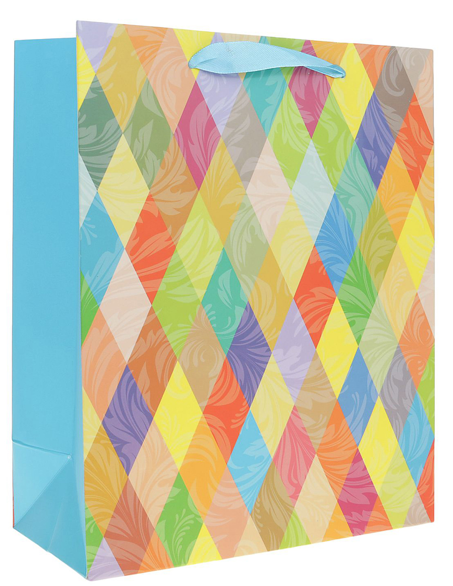 Пакет подарочный Ромбы, цвет: мультиколор, 26 х 10 х 32 см. 24901622490162Любой подарок начинается с упаковки. Что может быть трогательнее и волшебнее, чем ритуал разворачивания полученного презента. И именно оригинальная, со вкусом выбранная упаковка выделит ваш подарок из массы других. Она продемонстрирует самые теплые чувства к виновнику торжества и создаст сказочную атмосферу праздника. Пакет подарочный Ромбы - это то, что вы искали.