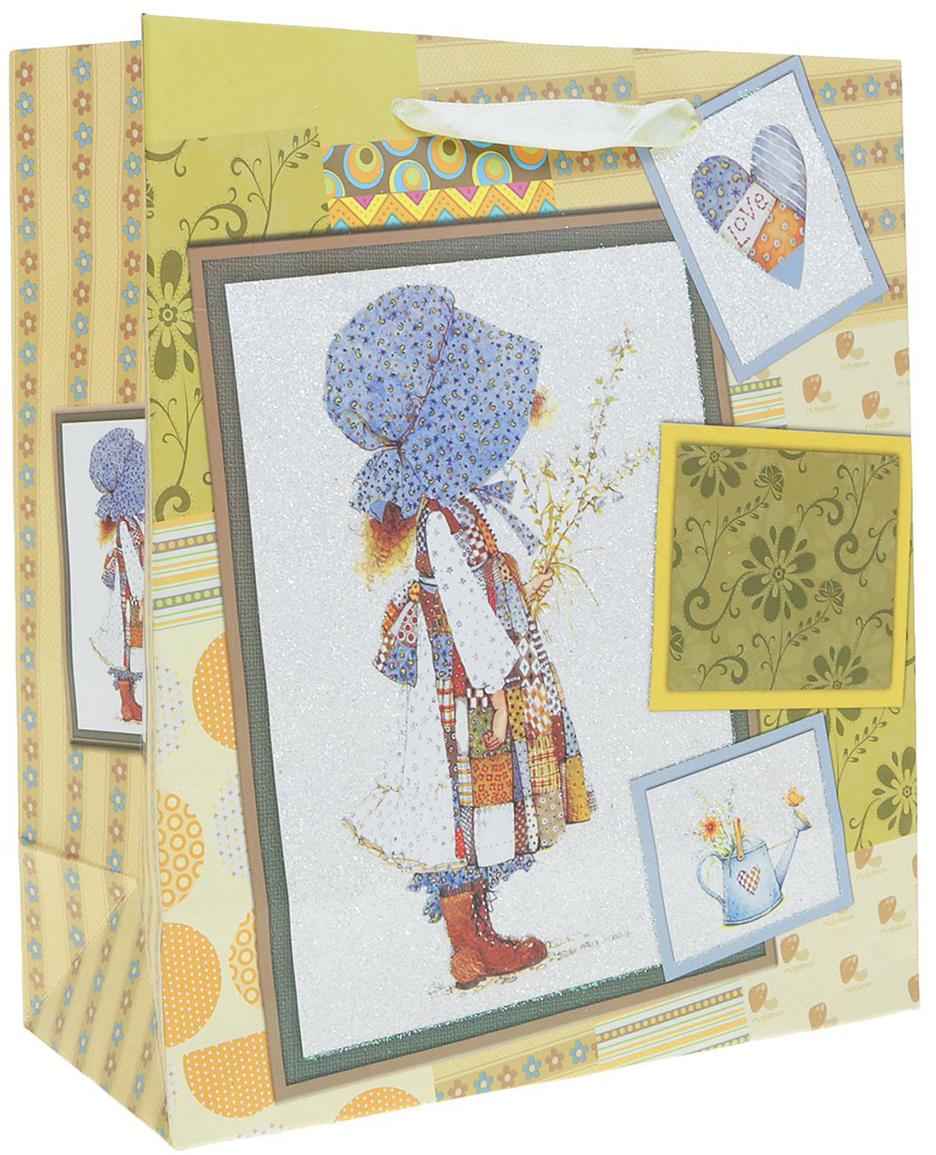 Пакет подарочный Люкс. Пастушка, цвет: мультиколор, 26 х 10 х 32 см. 2490179 пакет подарочный люкс цветы цвет мультиколор 26 х 10 х 32 см 2490192