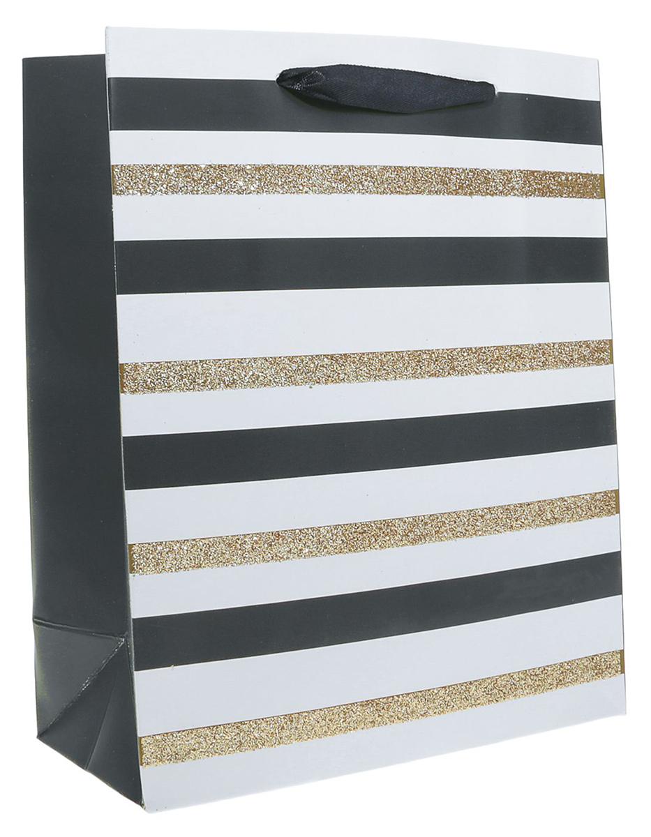 Пакет подарочный Люкс. Полоски, цвет: мультиколор, 26 х 10 х 32 см. 24901892490189Любой подарок начинается с упаковки. Что может быть трогательнее и волшебнее, чем ритуал разворачивания полученного презента. И именно оригинальная, со вкусом выбранная упаковка выделит ваш подарок из массы других. Она продемонстрирует самые теплые чувства к виновнику торжества и создаст сказочную атмосферу праздника. Пакет подарочный Полоски, люкс - это то, что вы искали.