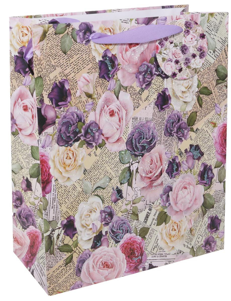 Пакет подарочный Люкс. Цветы, цвет: мультиколор, 26 х 10 х 32 см. 2490193 пакет подарочный люкс цветы цвет мультиколор 26 х 10 х 32 см 2490192