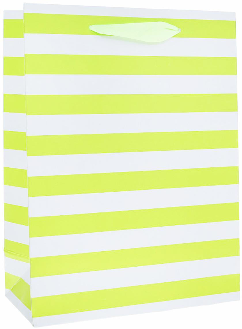 Пакет подарочный Люкс. Полоски, цвет: желтый, 18 х 8,5 х 24 см. 25116332511633Любой подарок начинается с упаковки. Что может быть трогательнее и волшебнее, чем ритуал разворачивания полученного презента. И именно оригинальная, со вкусом выбранная упаковка выделит ваш подарок из массы других. Она продемонстрирует самые теплые чувства к виновнику торжества и создаст сказочную атмосферу праздника. Пакет Зеленые полоски, люкс - это то, что вы искали.
