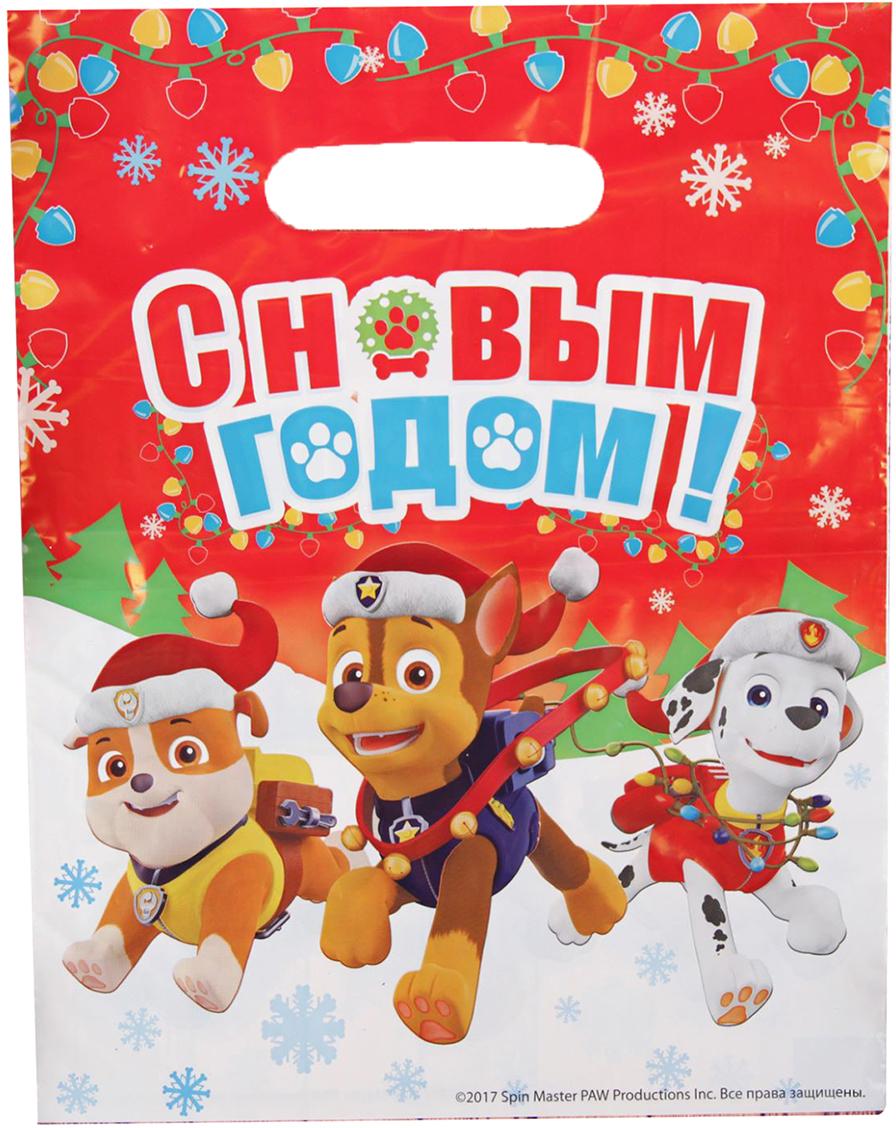Пакет подарочный Paw Patrol Новогодняя гирлянда, цвет: мультиколор, 23 х 29,5 см. 25341112534111Дети и взрослые будут в восторге от изображения прелестных щенков. А содержимое пакета станет еще желанней. Яркий полиэтиленовый пакет сделает подарок особенным и запоминающимся!
