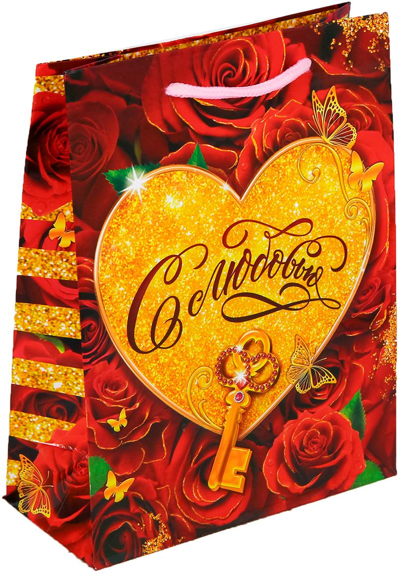 Пакет подарочный Дарите Счастье С Любовью, цвет: мультиколор, 18 х 8 х 23 см. 25572792557279Любой подарок начинается с упаковки. Что может быть трогательнее и волшебнее, чем ритуал разворачивания полученного презента. И именно оригинальная, со вкусом выбранная упаковка выделит ваш подарок из массы других. Она продемонстрирует самые теплые чувства к виновнику торжества и создаст сказочную атмосферу праздника - это то, что вы искали. Невозможно представить нашу жизнь без праздников! Мы всегда ждем их и предвкушаем, обдумываем, как проведем памятный день, тщательно выбираем подарки и аксессуары, ведь именно они создают и поддерживают торжественный настрой - это отличный выбор, который привнесет атмосферу праздника в ваш дом!