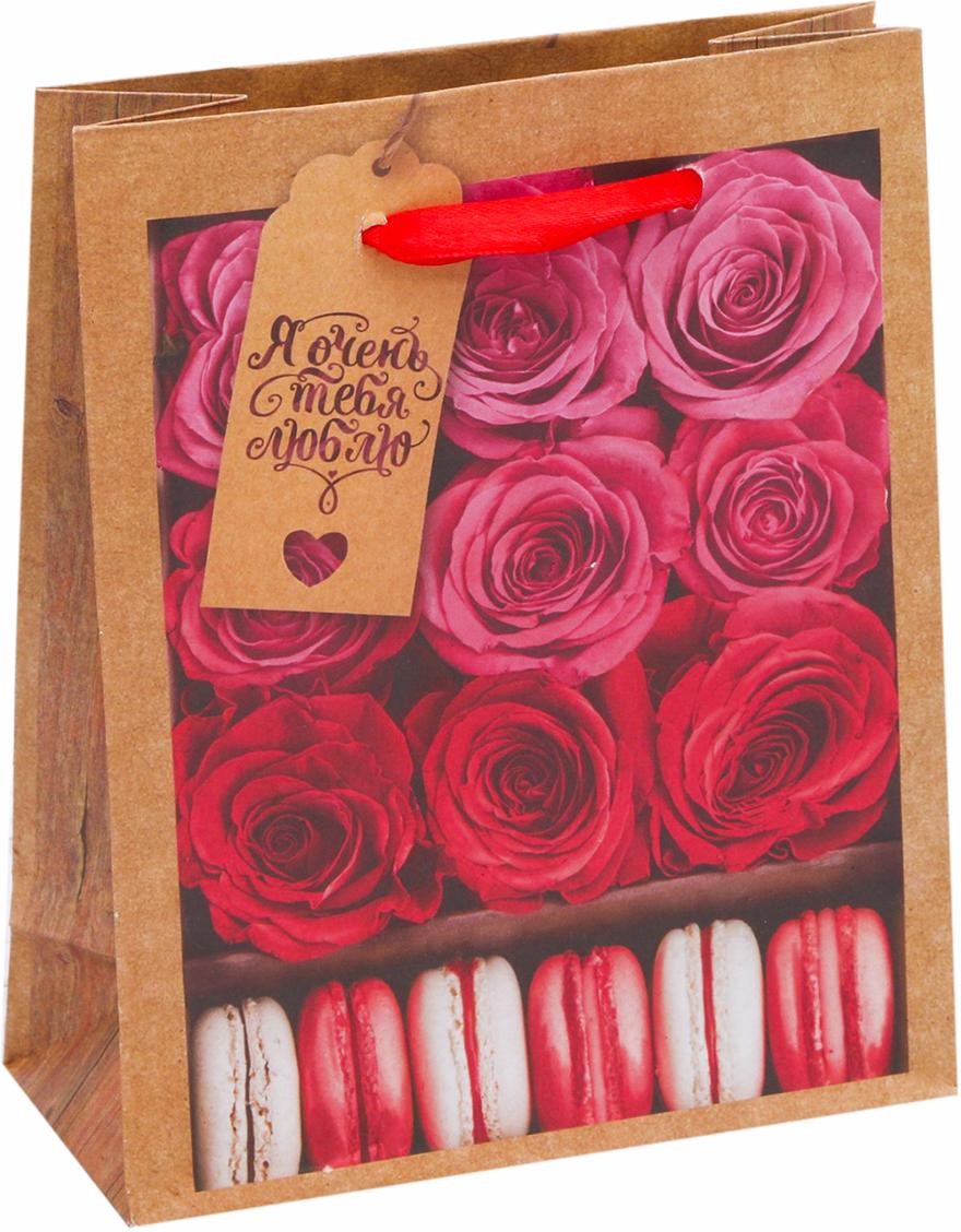 Пакет подарочный Дарите Счастье Я тебя люблю, цвет: красный, 12 х 6 х 15 см. 26028442602844Любой подарок начинается с упаковки. Что может быть трогательнее и волшебнее, чем ритуал разворачивания полученного презента. И именно оригинальная, со вкусом выбранная упаковка выделит ваш подарок из массы других. Она продемонстрирует самые теплые чувства к виновнику торжества и создаст сказочную атмосферу праздника - это то, что вы искали. Невозможно представить нашу жизнь без праздников! Мы всегда ждем их и предвкушаем, обдумываем, как проведем памятный день, тщательно выбираем подарки и аксессуары, ведь именно они создают и поддерживают торжественный настрой - это отличный выбор, который привнесет атмосферу праздника в ваш дом!