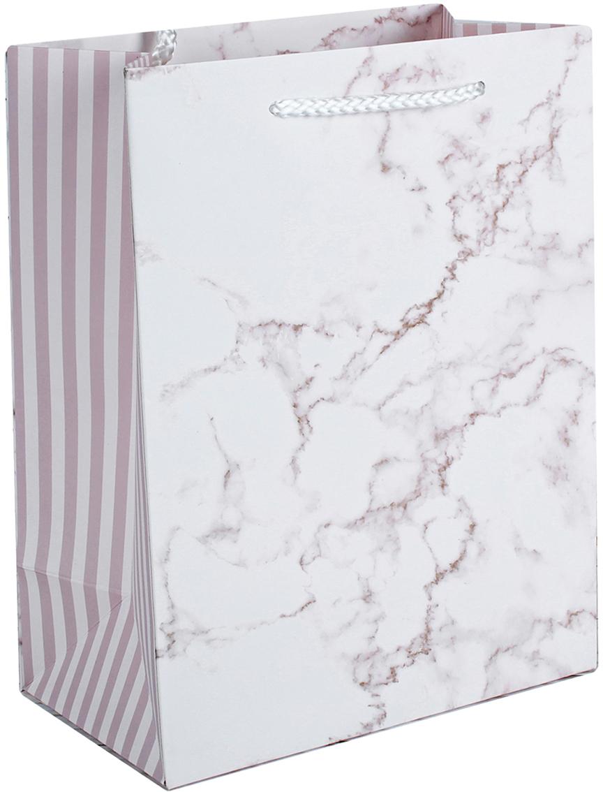 Пакет подарочный Люкс. Мрамор, цвет: розовый, 44 х 31 х 12 см. 26244332624433Любой подарок начинается с упаковки. Что может быть трогательнее и волшебнее, чем ритуал разворачивания полученного презента. И именно оригинальная, со вкусом выбранная упаковка выделит ваш подарок из массы других. Она продемонстрирует самые теплые чувства к виновнику торжества и создаст сказочную атмосферу праздника. Пакет подарочный Мрамор, люкс - это то, что вы искали.