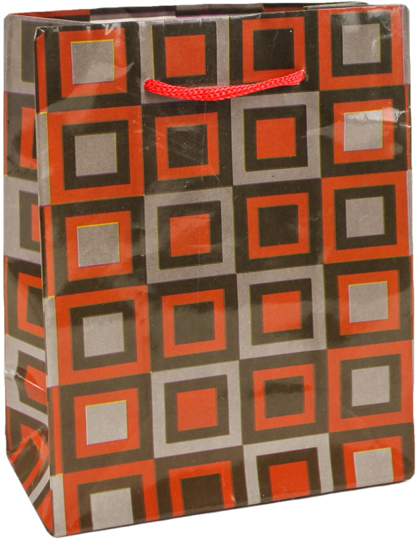Пакет подарочный Разноцветные квадраты, цвет: мультиколор, 12 х 15 х 5 см. 2626116