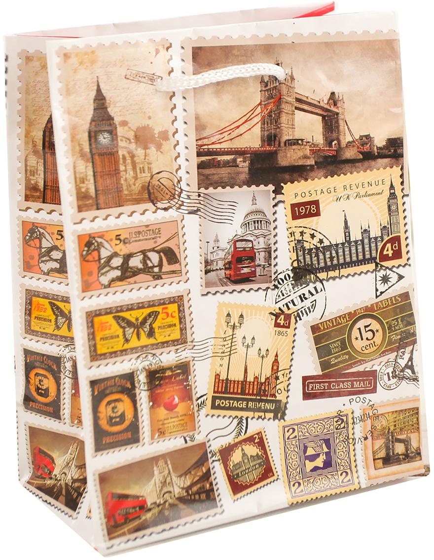 Пакет подарочный Лондон, цвет: мультиколор, 12 х 15 х 5 см. 26261262626126Любой подарок начинается с упаковки. Что может быть трогательнее и волшебнее, чем ритуал разворачивания полученного презента. И именно оригинальная, со вкусом выбранная упаковка выделит ваш подарок из массы других. Она продемонстрирует самые теплые чувства к виновнику торжества и создаст сказочную атмосферу праздника. Пакет подарочный Лондон - это то, что вы искали.