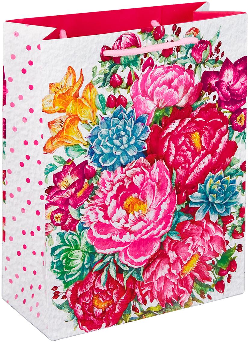 Пакет подарочный Дарите Счастье Прекрасные цветы, цвет: мультиколор, 23 х 8 х 27 см. 26342852634285Любой подарок начинается с упаковки. Что может быть трогательнее и волшебнее, чем ритуал разворачивания полученного презента. И именно оригинальная, со вкусом выбранная упаковка выделит ваш подарок из массы других. Она продемонстрирует самые теплые чувства к виновнику торжества и создаст сказочную атмосферу праздника - это то, что вы искали.