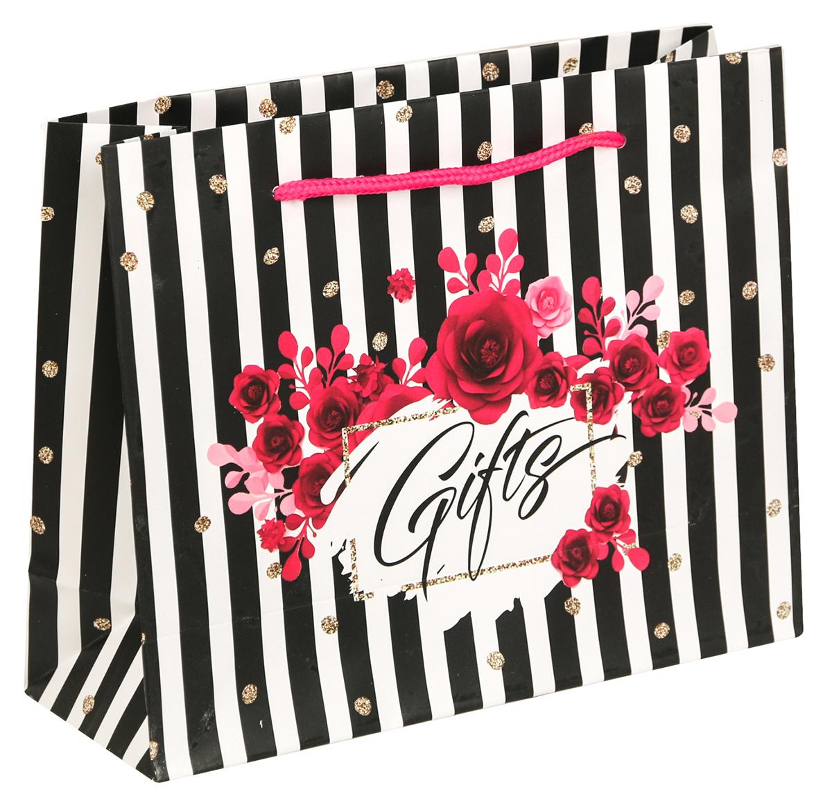 Пакет подарочный Дарите Счастье Gifts, цвет: мультиколор, 22 х 8 х 17,5 см. 26401922640192Невозможно представить нашу жизнь без праздников! Мы всегда ждем их и предвкушаем, обдумываем, как проведем памятный день, тщательно выбираем подарки и аксессуары, ведь именно они создают и поддерживают торжественный настрой - это отличный выбор, который привнесет атмосферу праздника в ваш дом!Любой подарок начинается с упаковки. Что может быть трогательнее и волшебнее, чем ритуал разворачивания полученного презента. И именно оригинальная, со вкусом выбранная упаковка выделит ваш подарок из массы других. Она продемонстрирует самые теплые чувства к виновнику торжества и создаст сказочную атмосферу праздника - это то, что вы искали.