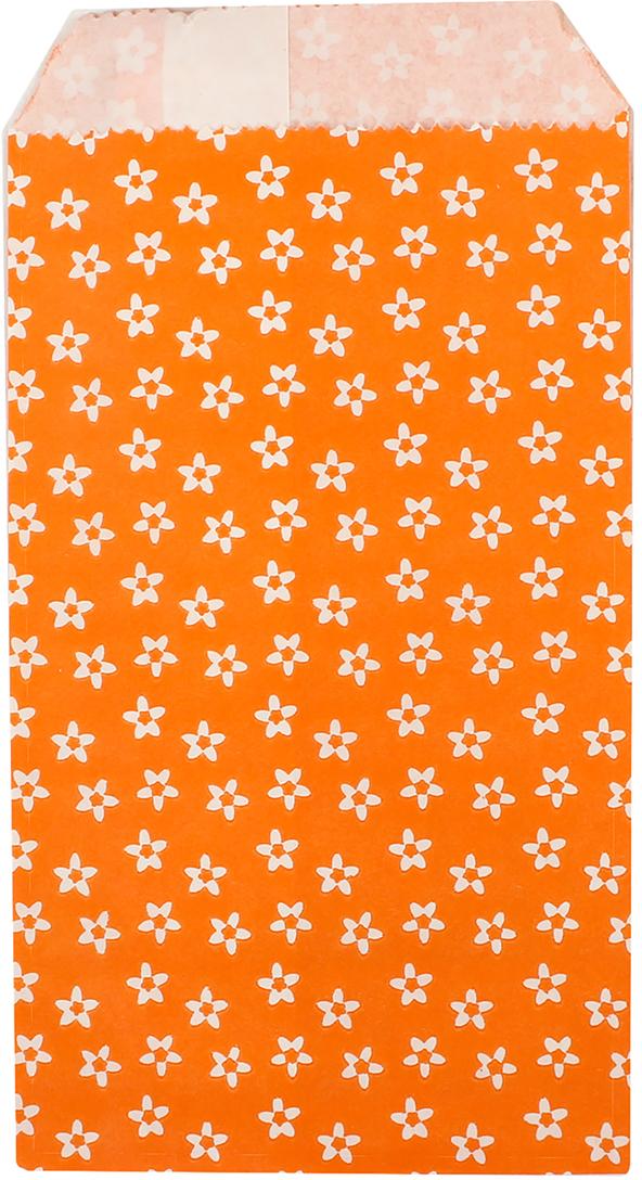 Пакет подарочный Цветочки, цвет: оранжевый, 8 х 15 х 3 см. 26543202654320Любой подарок начинается с упаковки. Что может быть трогательнее и волшебнее, чем ритуал разворачивания полученного презента. И именно оригинальная, со вкусом выбранная упаковка выделит ваш подарок из массы других. Она продемонстрирует самые теплые чувства к виновнику торжества и создаст сказочную атмосферу праздника. Пакет фасовочный Цветочки на оранжевом - это то, что вы искали.